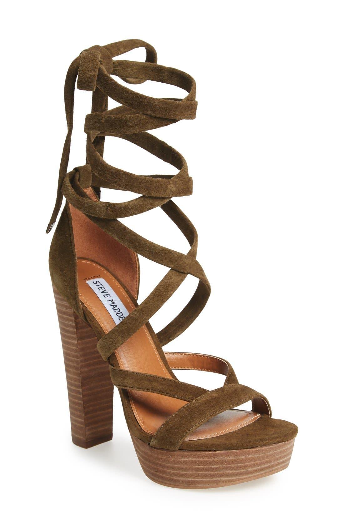 Alternate Image 1 Selected - Steve Madden 'Laceit' Platform Sandal (Women)