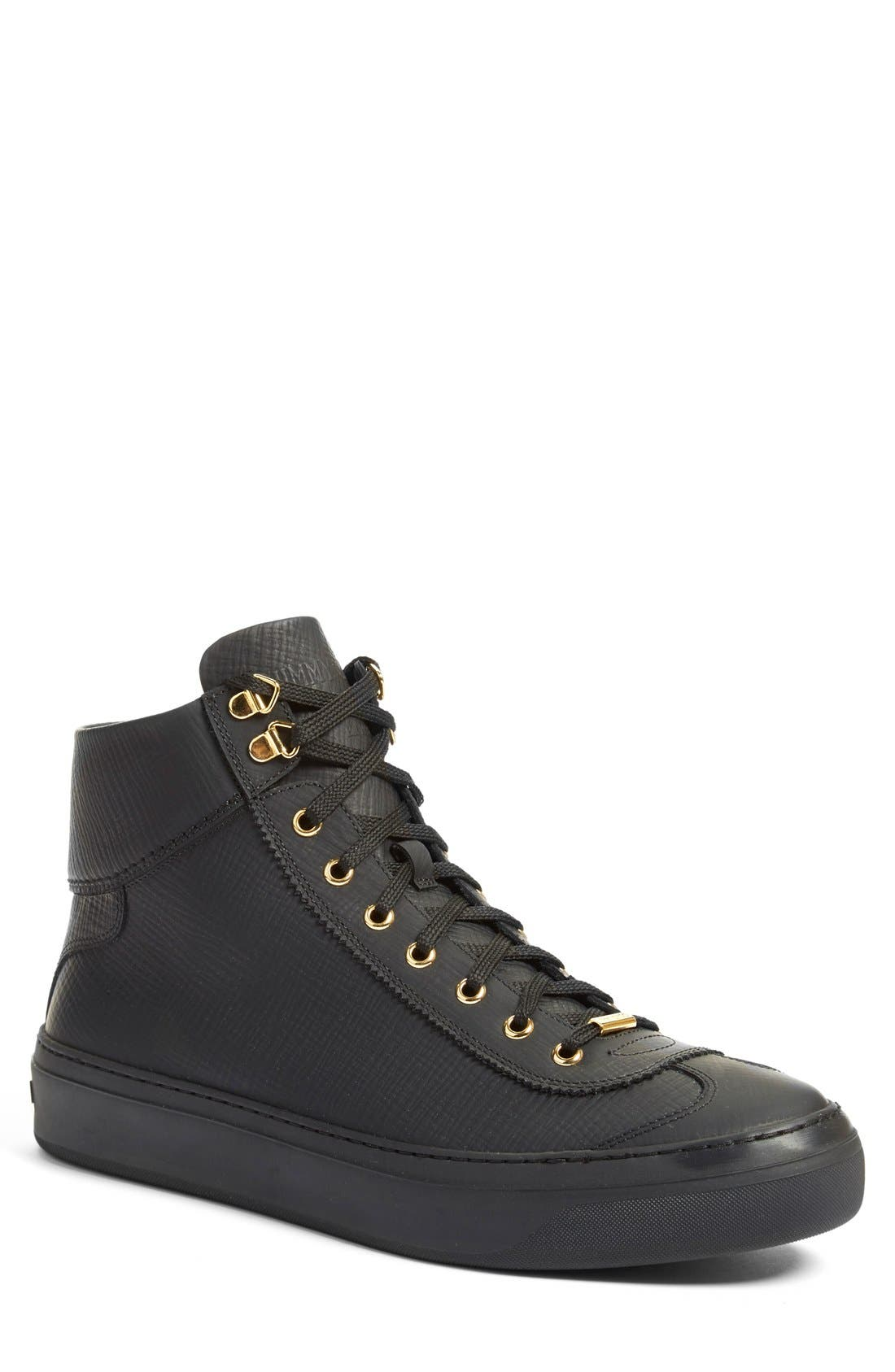 Jimmy Choo 'Argyle' High Top Sneaker (Men)