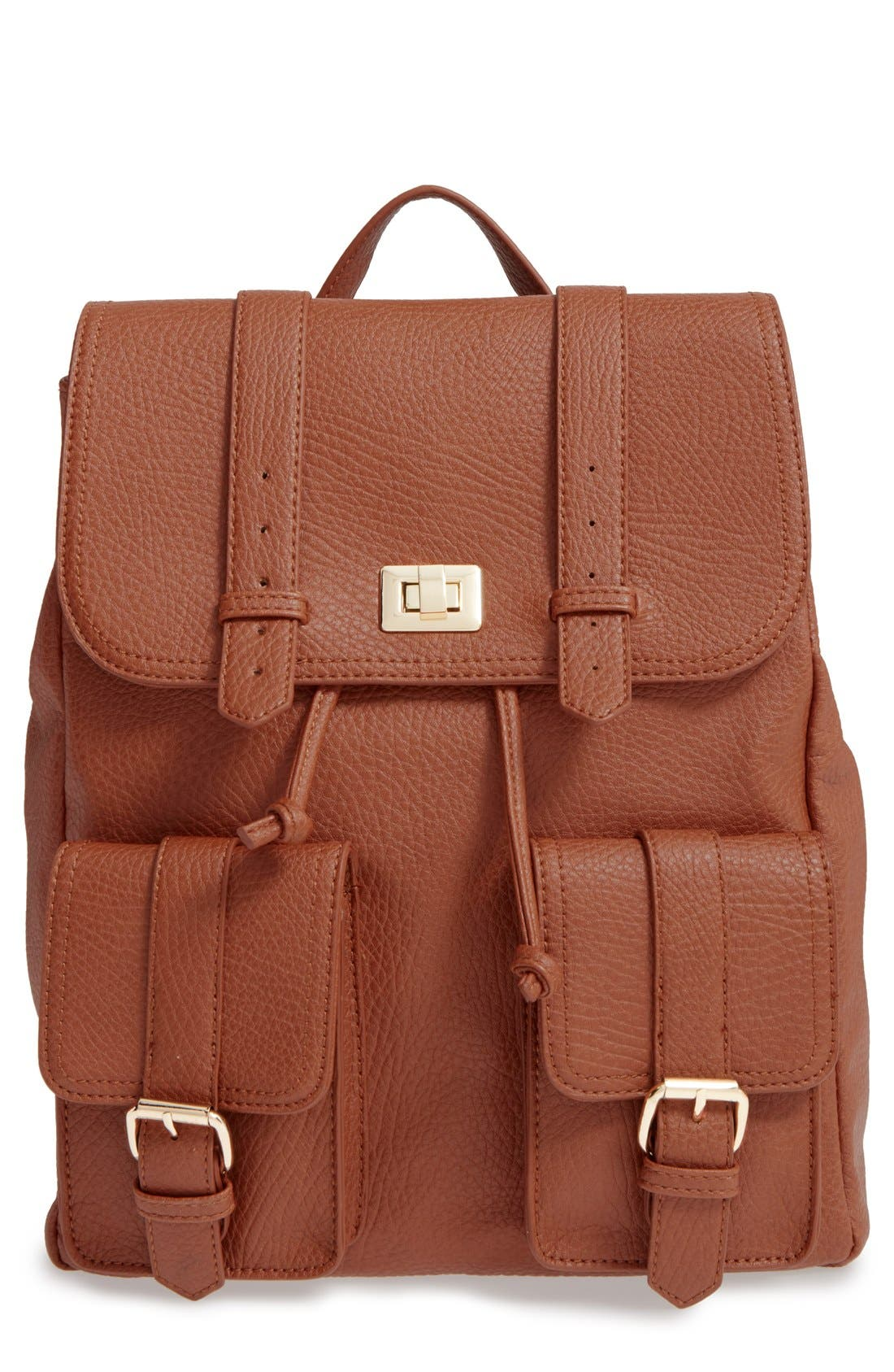 Main Image - Sole Society 'Shaw' Faux Leather Backpack