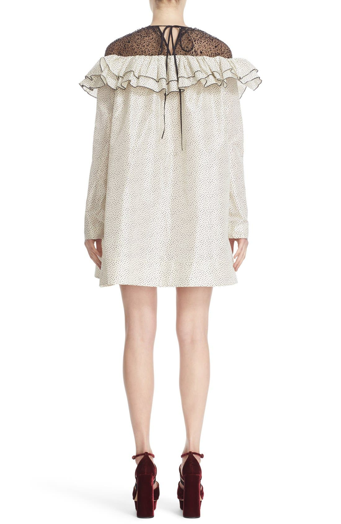 Alternate Image 2  - Isa Arfen Ruffle Illusion Yoke Shift Dress
