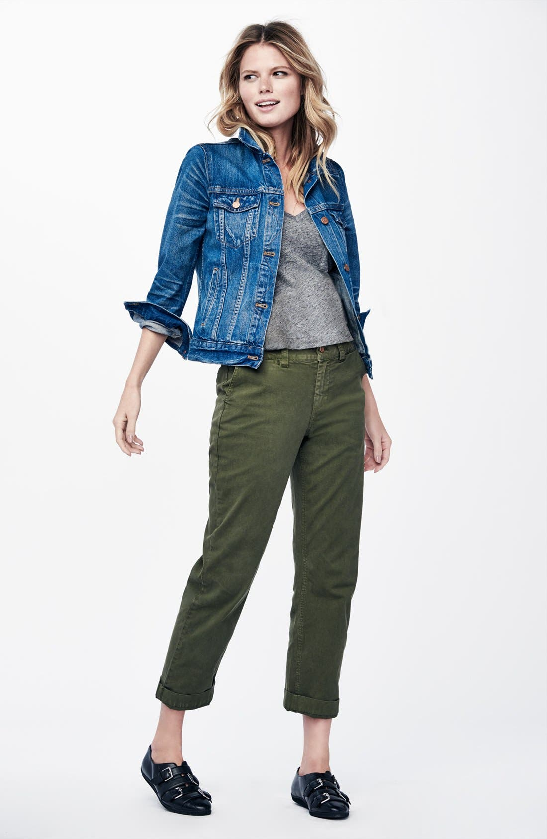 Alternate Image 6  - Madewell High Rise Straight Leg Chino Pants