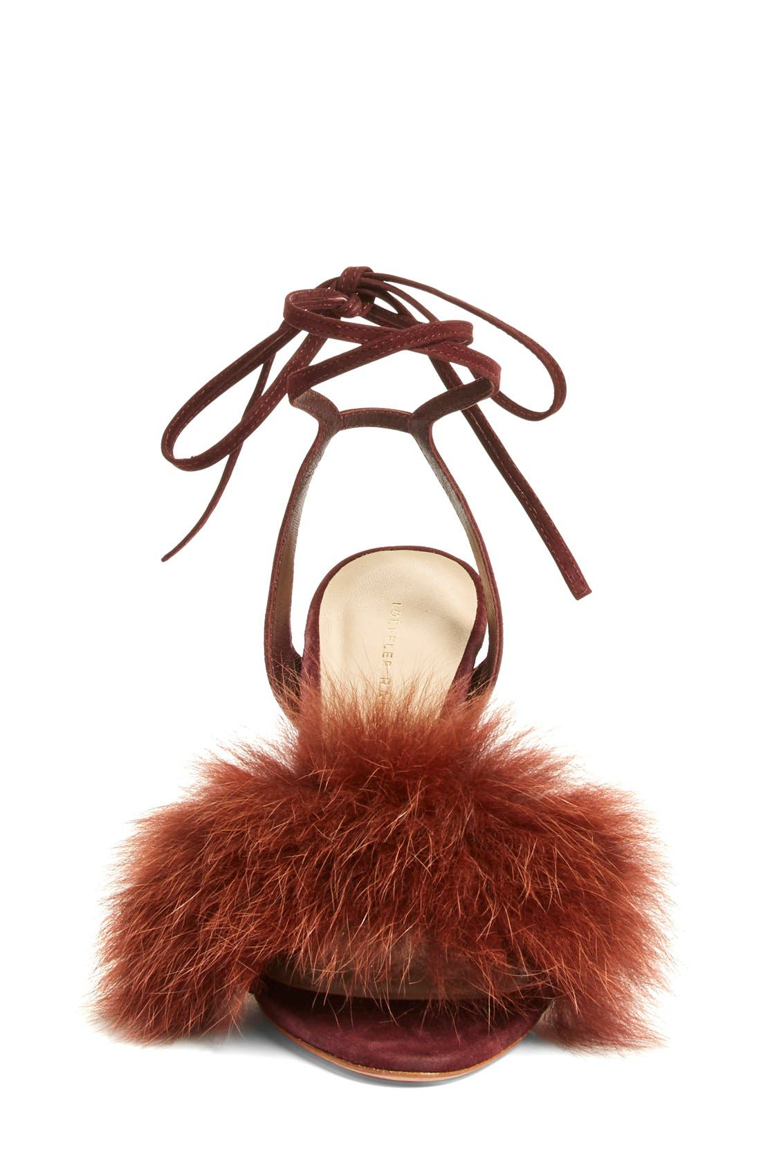 Alternate Image 3  - Loeffler Randall 'Nicolette' Genuine Fox Fur Trim Sandal (Women)