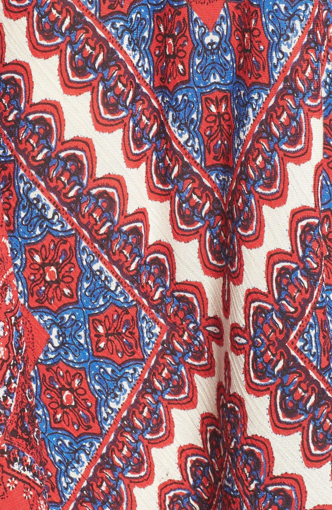 Alternate Image 5  - Band of Gypsies Scarf Print Handkerchief Hem Dress