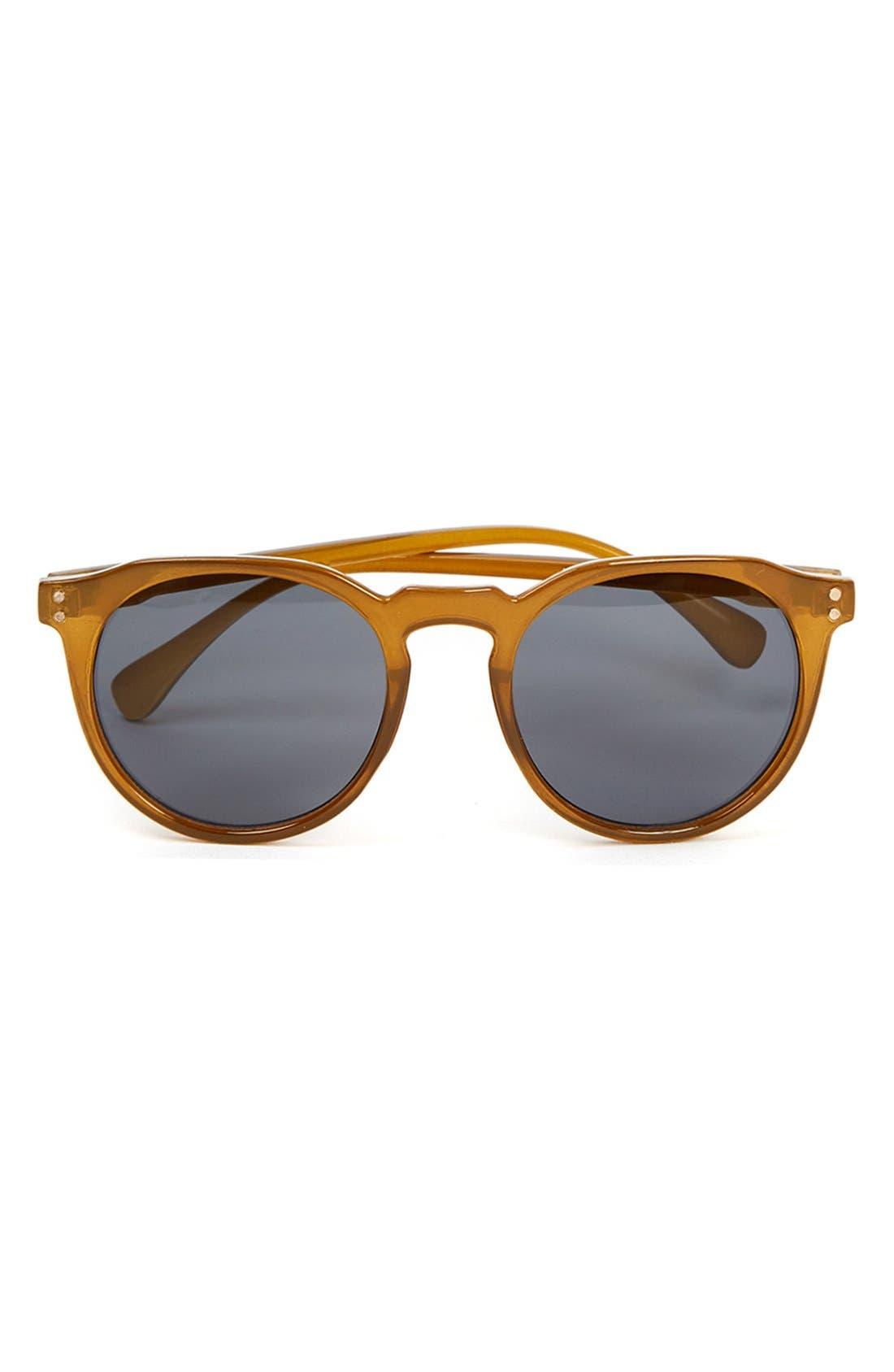 Main Image - Topman 50mm Round Sunglasses