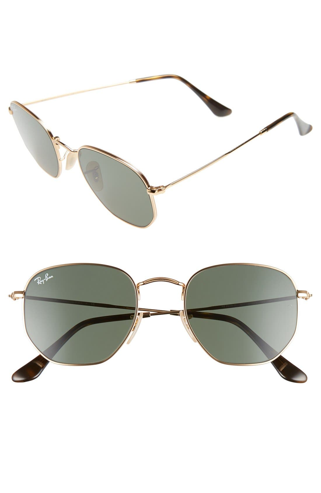 Ray-Ban 51mm Hexagonal Flat Lens Sunglasses