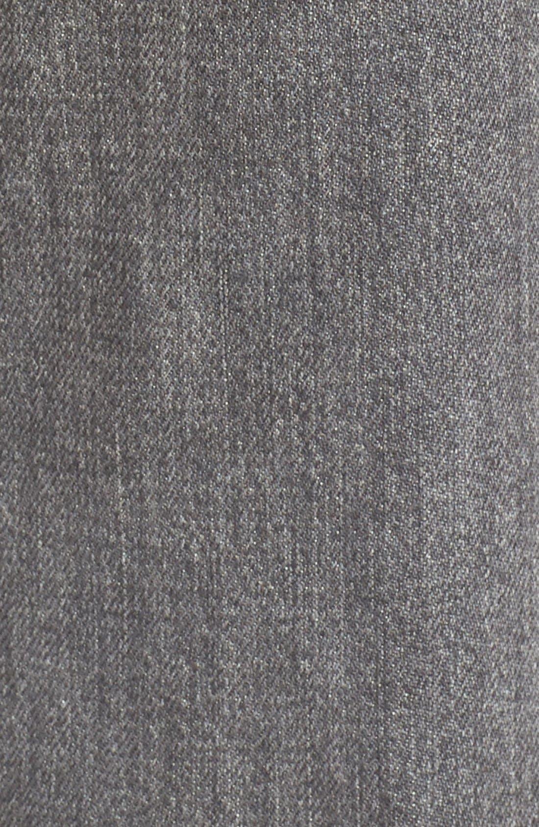 Alternate Image 6  - Current/Elliott 'The Fling' Boyfriend Jeans (Metal Washed Black)