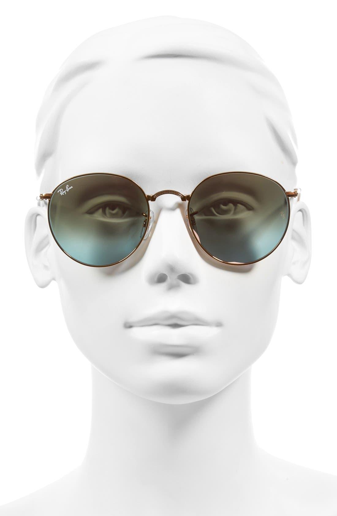 Alternate Image 2  - Ray-Ban Icons 53mm Folding Round Sunglasses