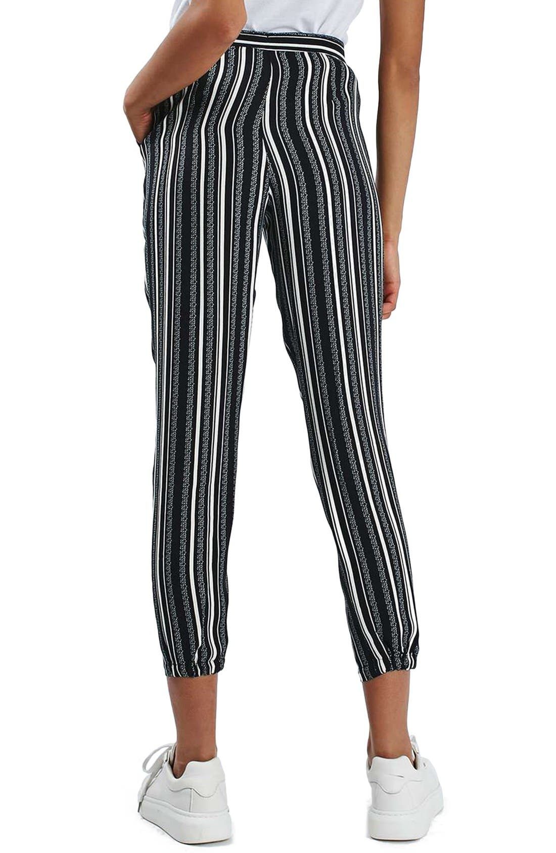 Alternate Image 3  - Topshop Stripe Tapered Slouch Pants