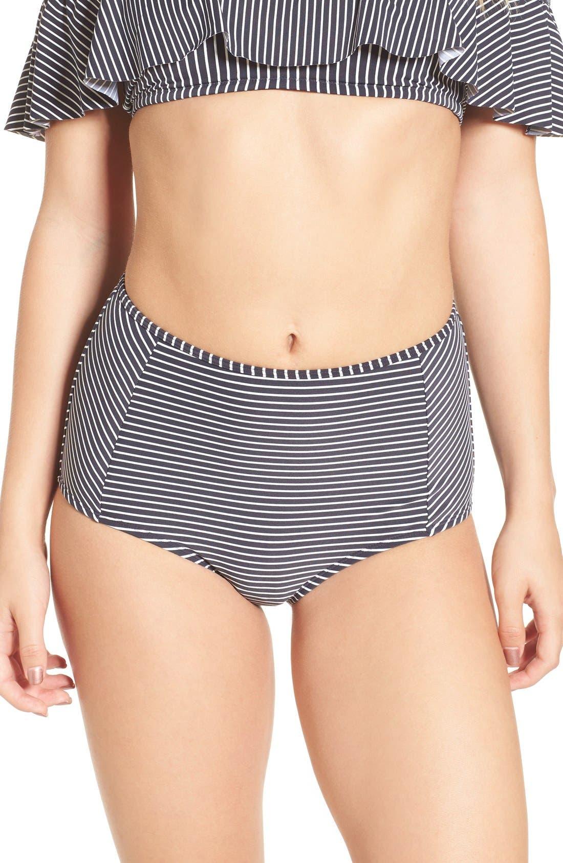 Alternate Image 1 Selected - Billabong Retro High Waist Bikini Bottoms