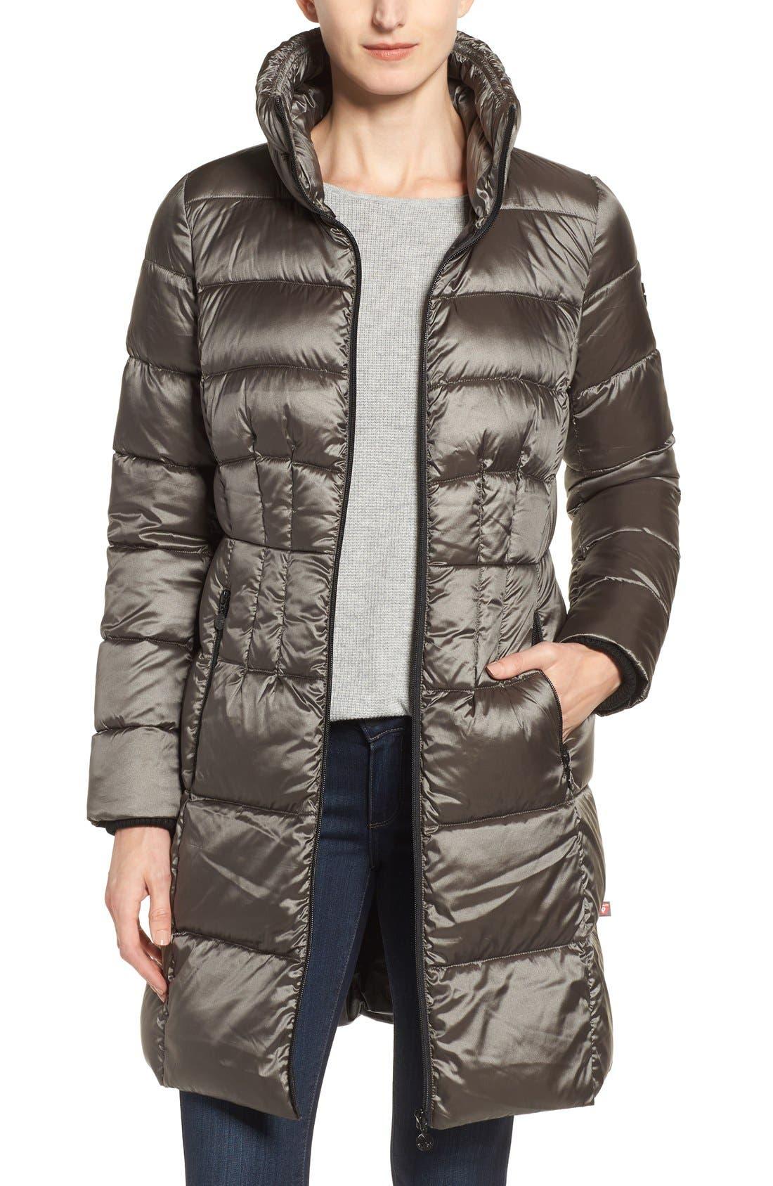 Alternate Image 1 Selected - Bernardo Packable Coat with Down & PrimaLoft® Fill (Regular & Petite)