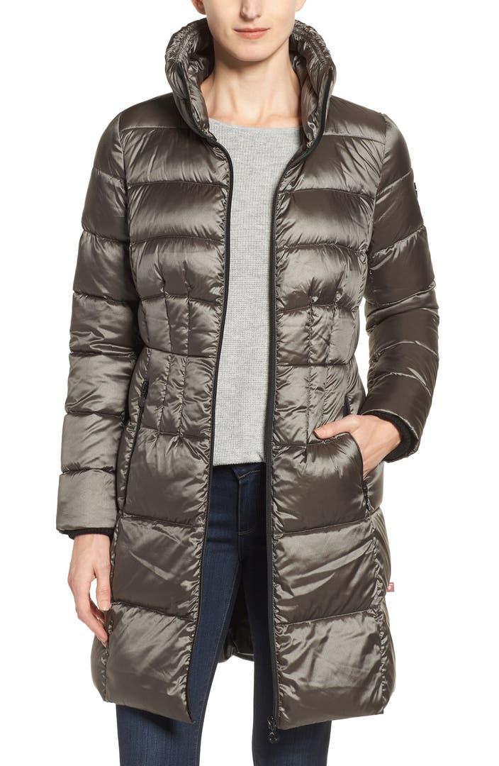 Bernardo Packable Coat with Down & PrimaLoft® Fill ...
