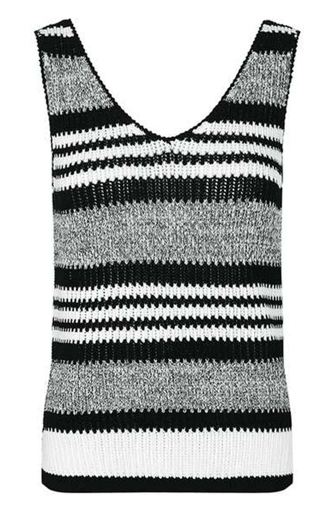 Alternate Image 4  - Topshop Monochrome Stripe Sweater Vest