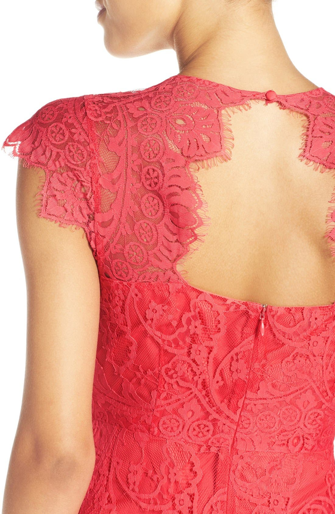 Alternate Image 4  - BB Dakota 'Rhianna' Illusion Yoke Lace Fit & Flare Dress (Nordstrom Exclusive)