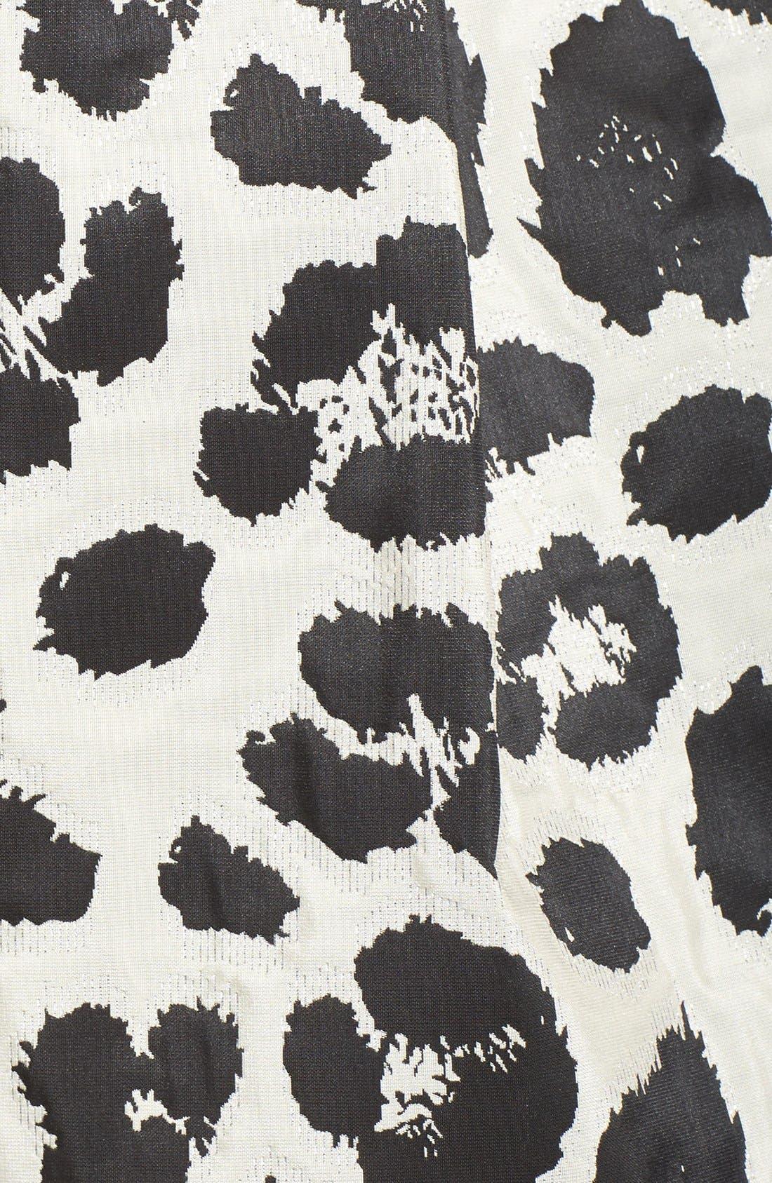 Alternate Image 5  - Eliza J Metallic Jacquard Midi Skirt