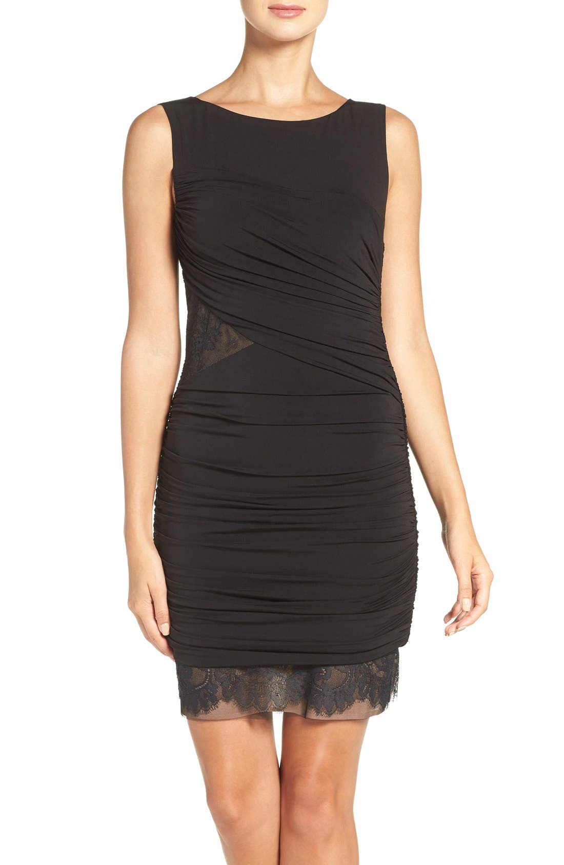 Alternate Image 1 Selected - BCBGMAXAZRIA 'Clio' Ruched Jersey Body-Con Dress