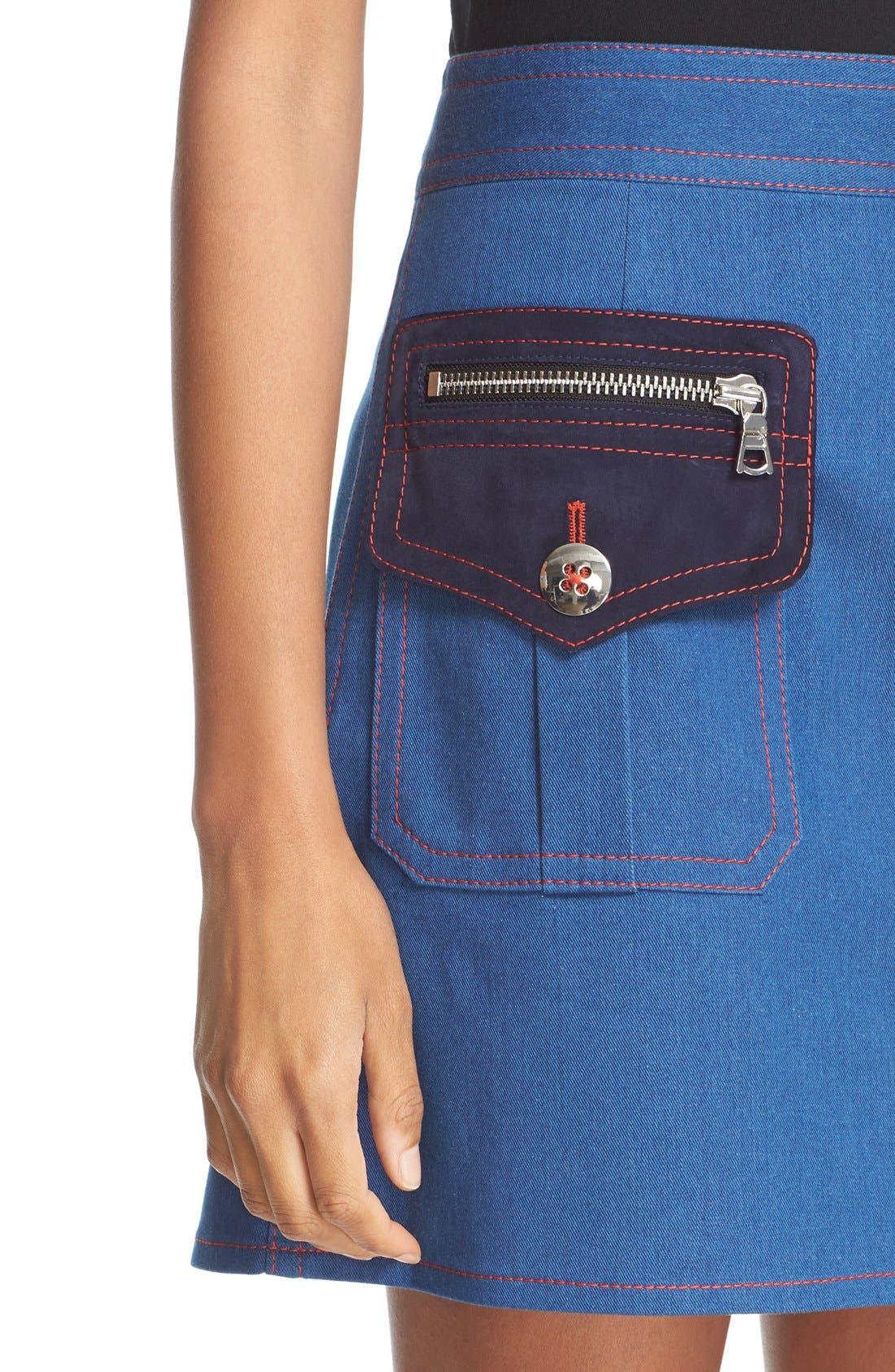 Alternate Image 6  - MARC JACOBS Patch Pocket Denim Skirt