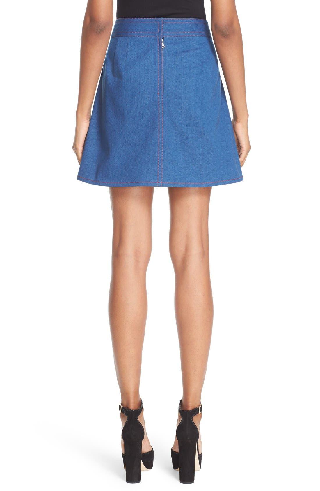 Alternate Image 2  - MARC JACOBS Patch Pocket Denim Skirt