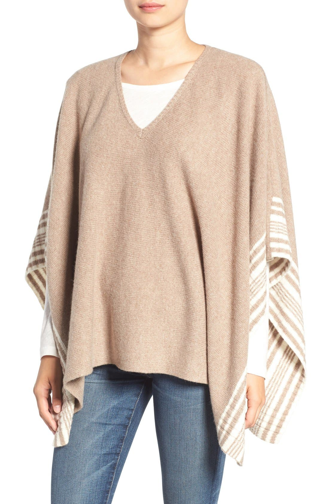 SPLENDID Stripe Knit Poncho