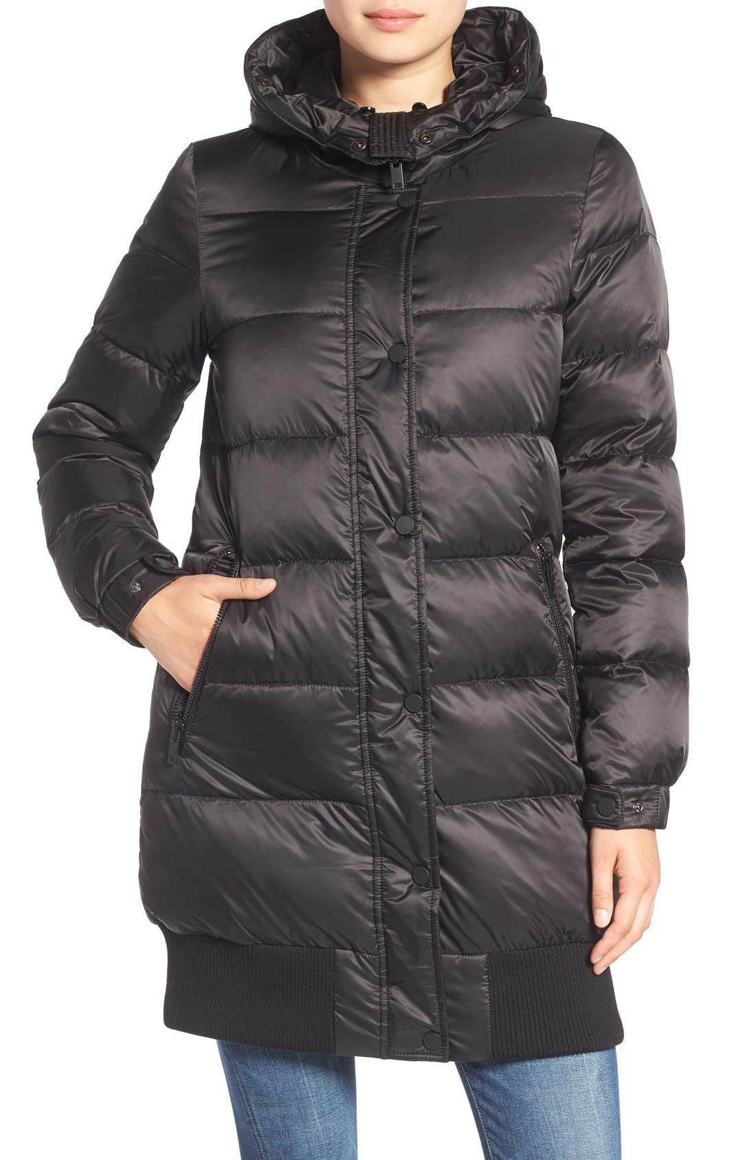 Alternate Image 4  - 7 For All Mankind Quilted Coat with Removable Faux Fur Trim Hood