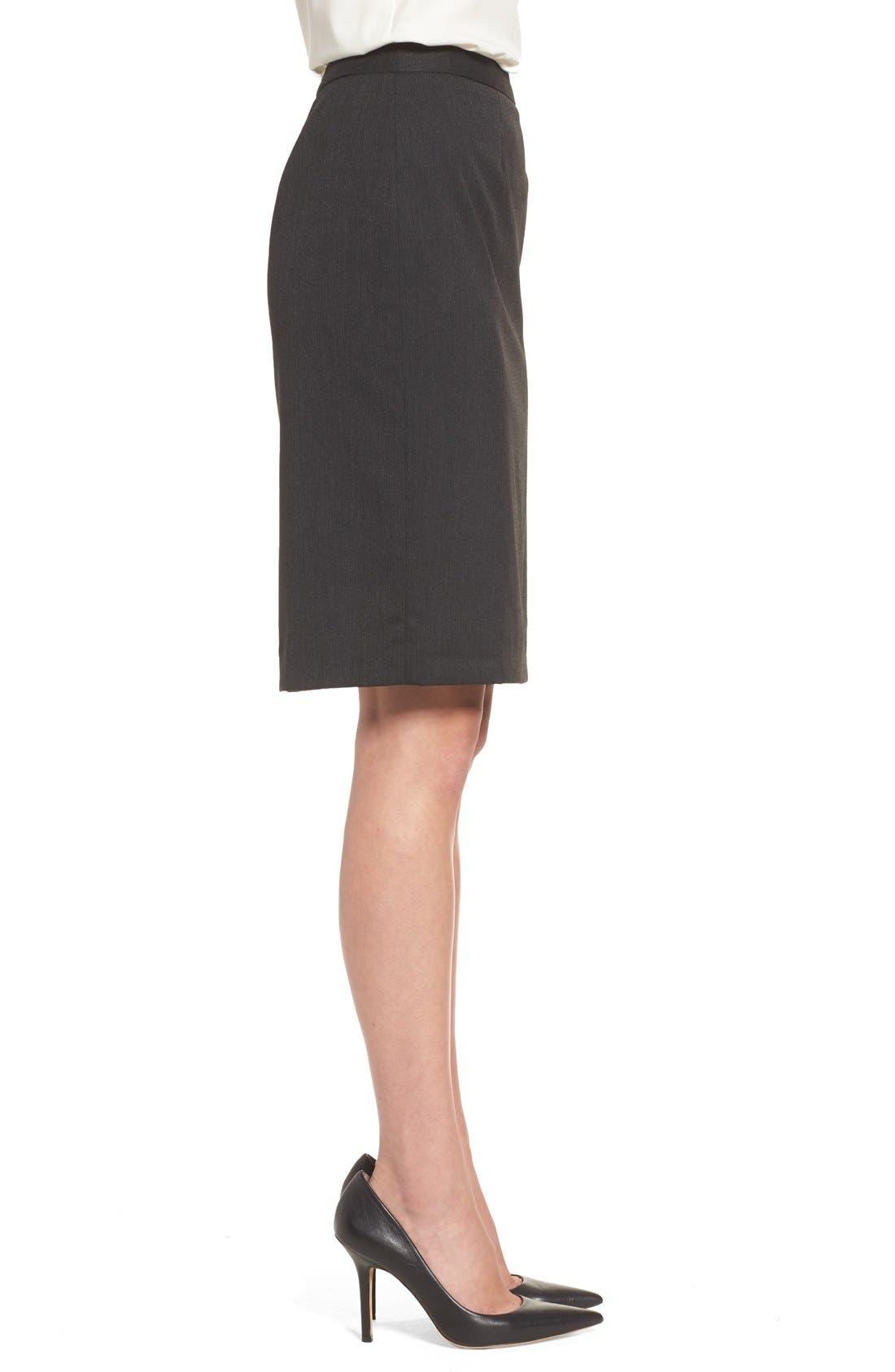 Alternate Image 3  - Halogen® Mini Stripe Stretch Suit Skirt (Regular & Petite)