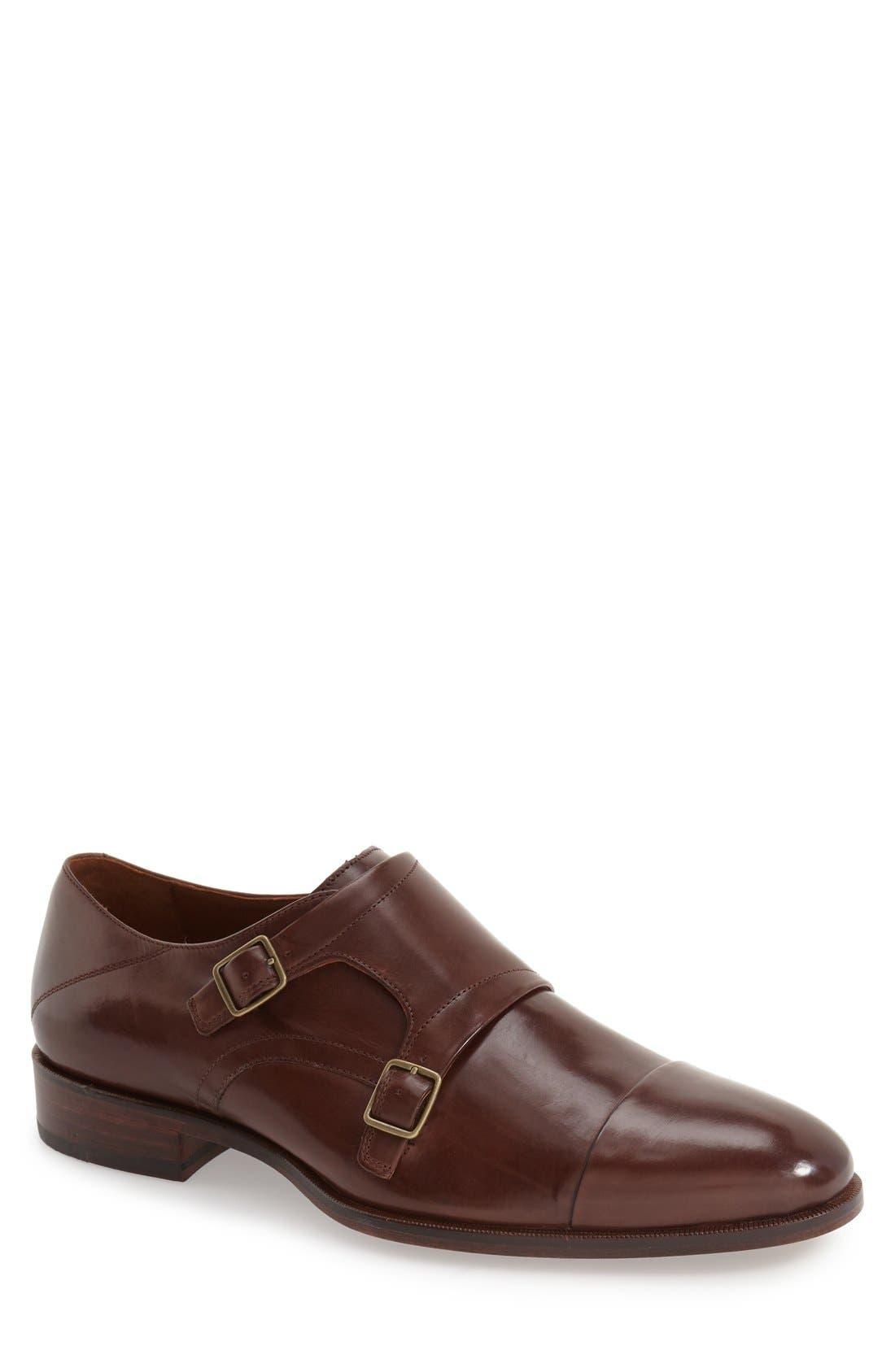 Alternate Image 1 Selected - Johnston & Murphy 'Nolen' Double Monk Strap Shoe (Men)