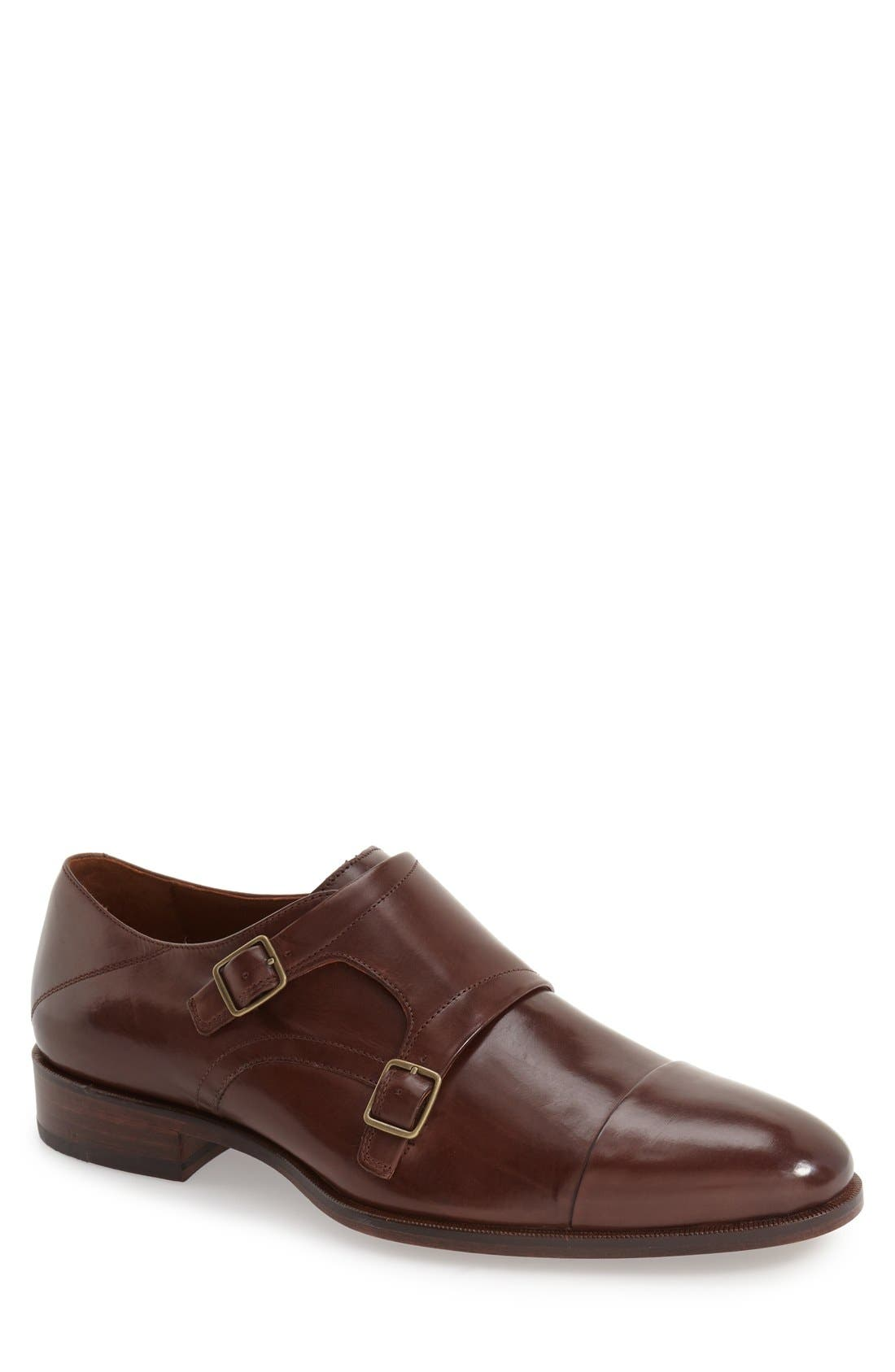 Johnston & Murphy 'Nolen' Double Monk Strap Shoe (Men)