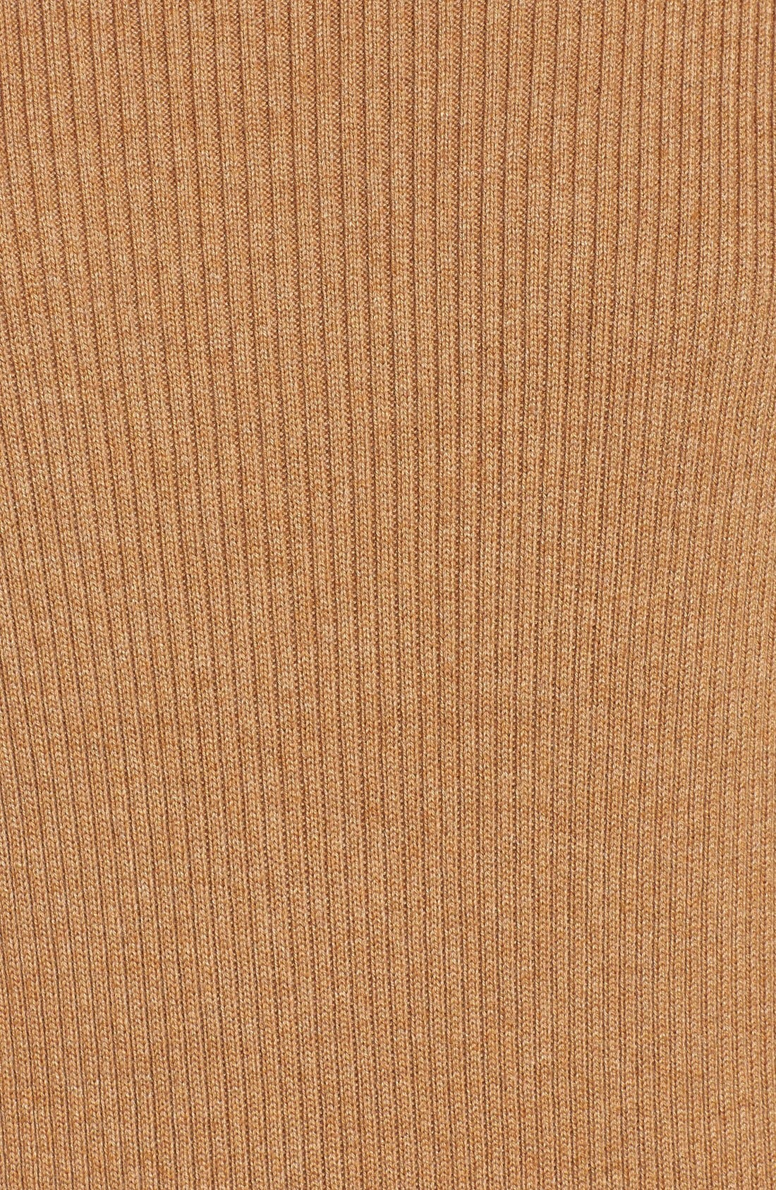 Alternate Image 5  - Halogen® Rib Knit Funnel Neck Tunic