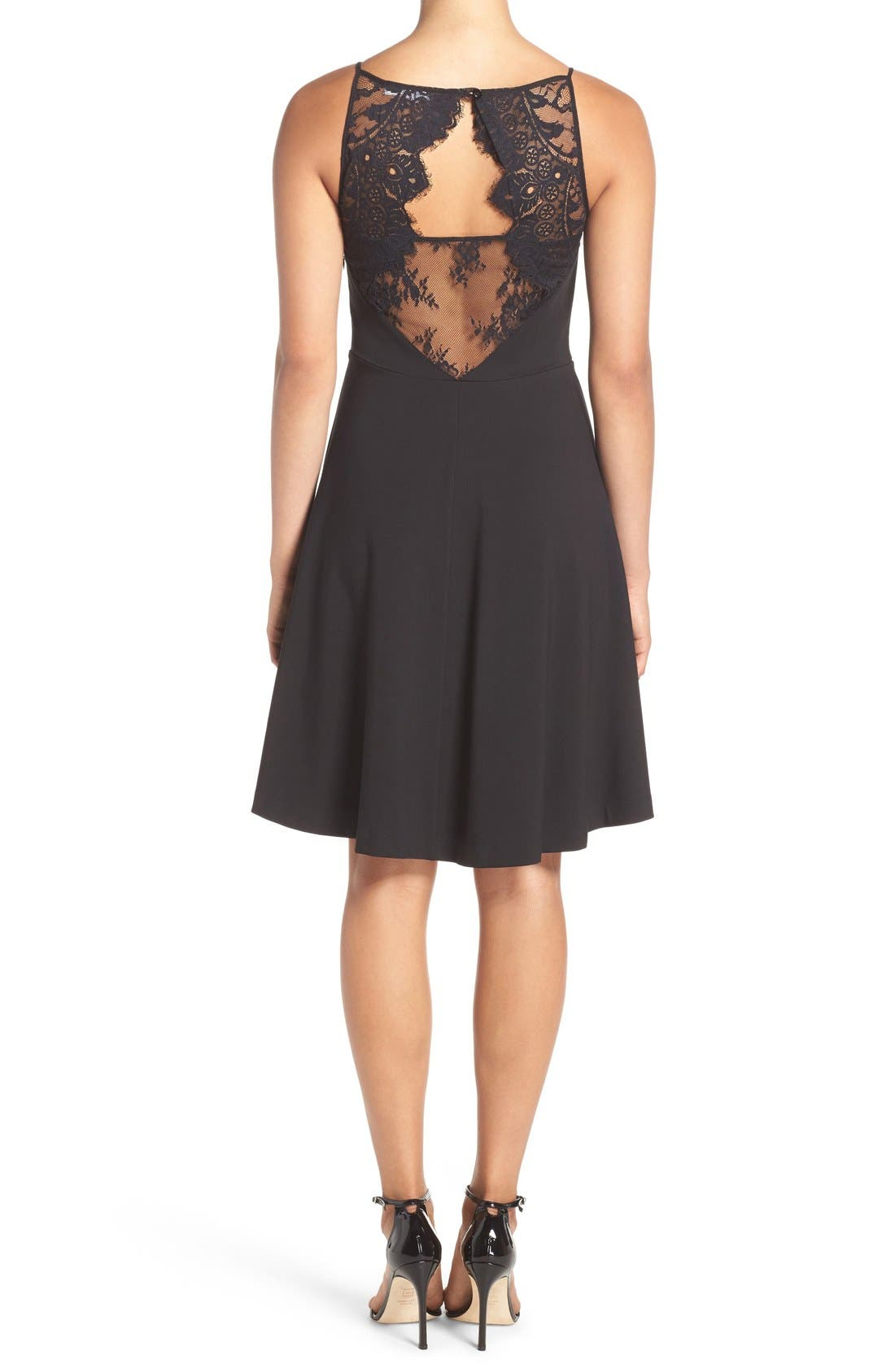 Alternate Image 2  - BB Dakota 'Milford' Lace & Ponte Fit & Flare Dress