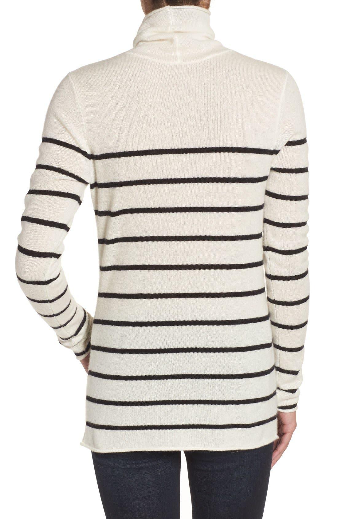 Alternate Image 2  - Halogen® Wool & Cashmere Funnel Neck Sweater