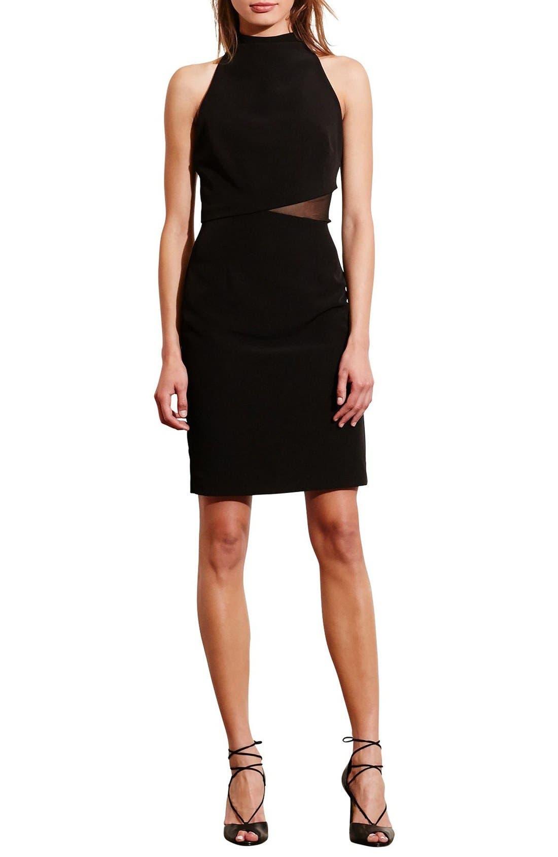 Alternate Image 3  - Lauren Ralph Lauren Asymmetrical Stretch Sheath Dress