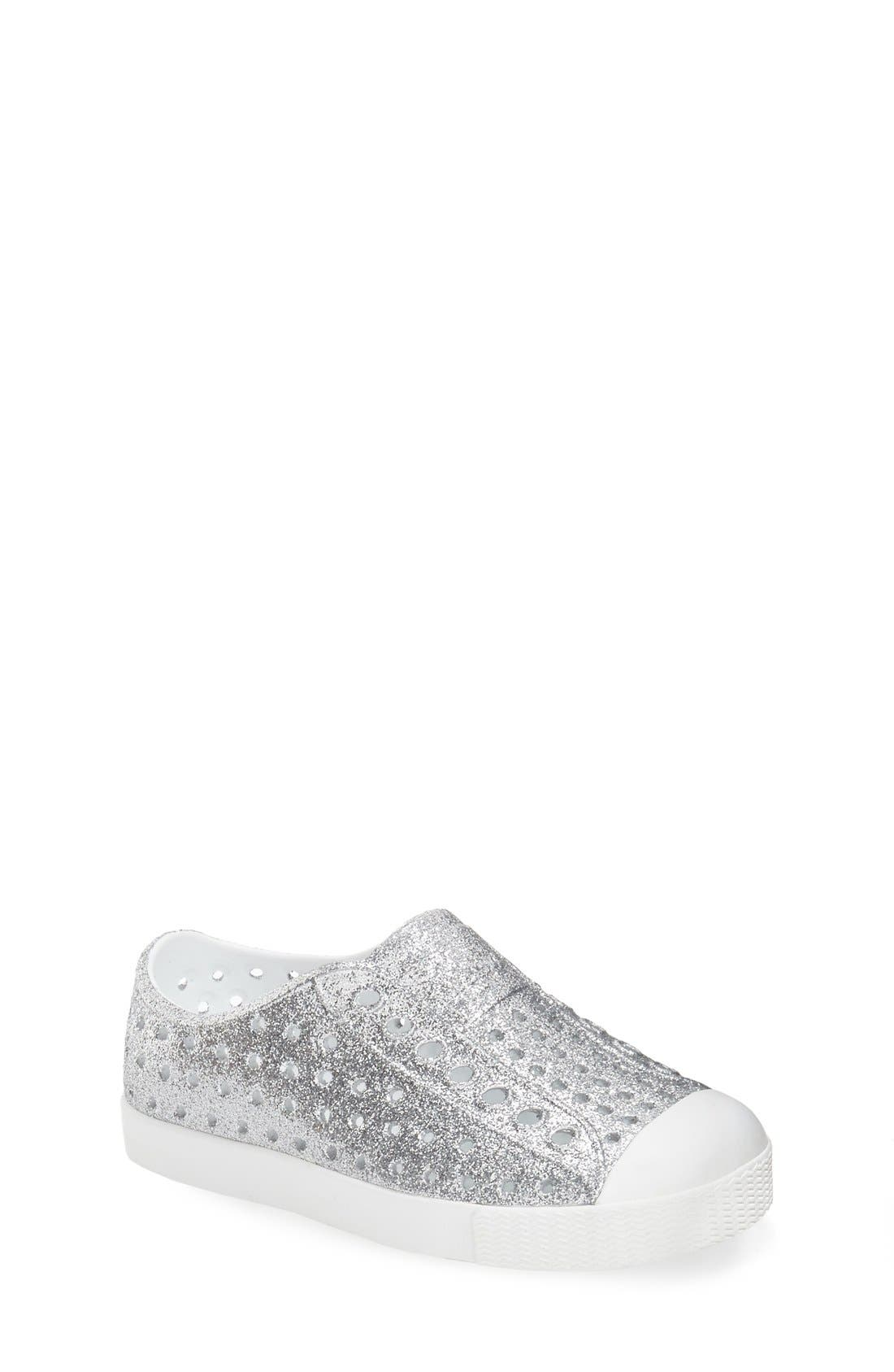 Native Shoes 'Jefferson - Bling' Slip-On Sneaker (Baby, Walker, Toddler & Little Kid)