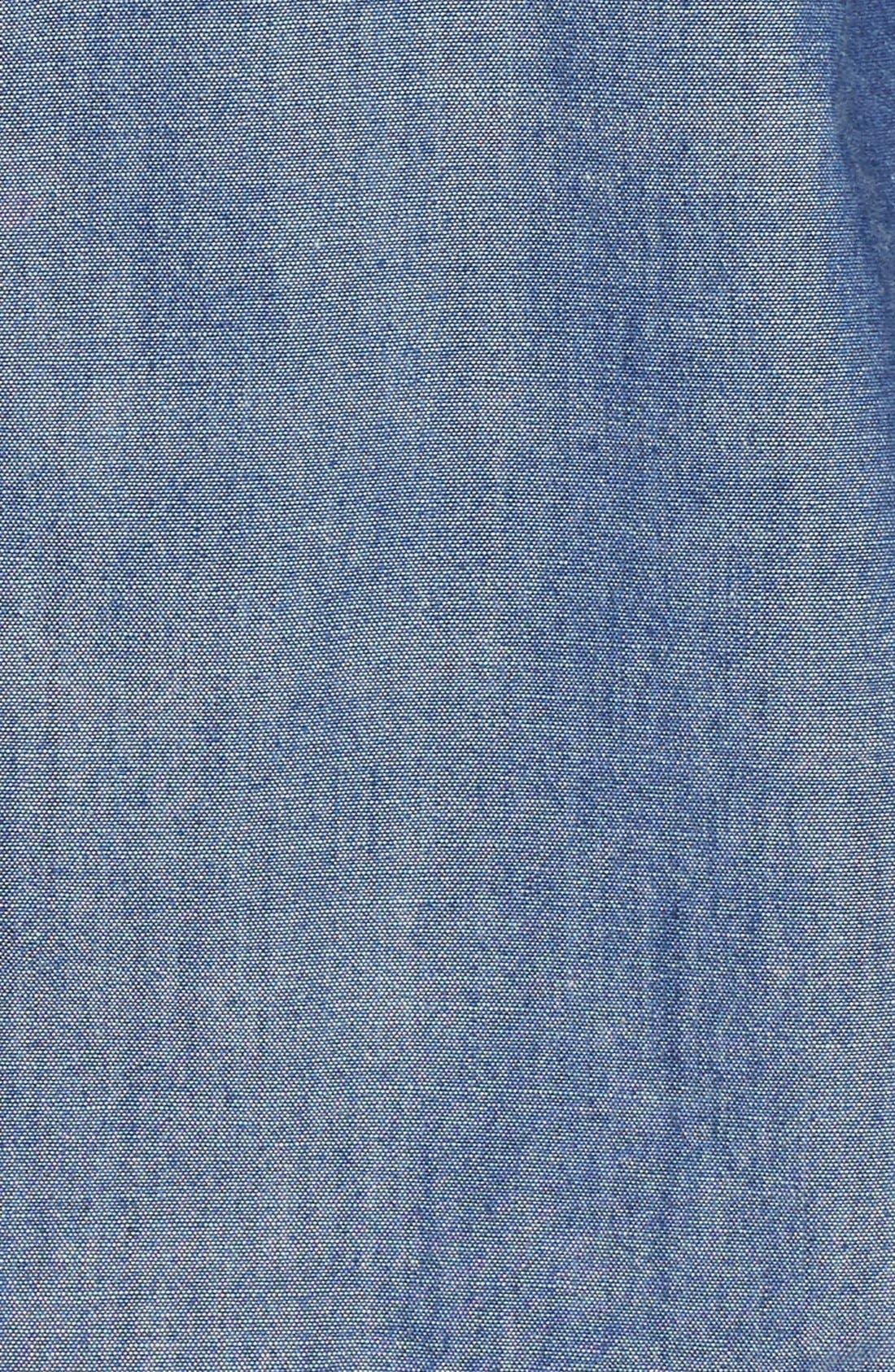 Alternate Image 3  - Burberry Check Cuff Denim Shirt