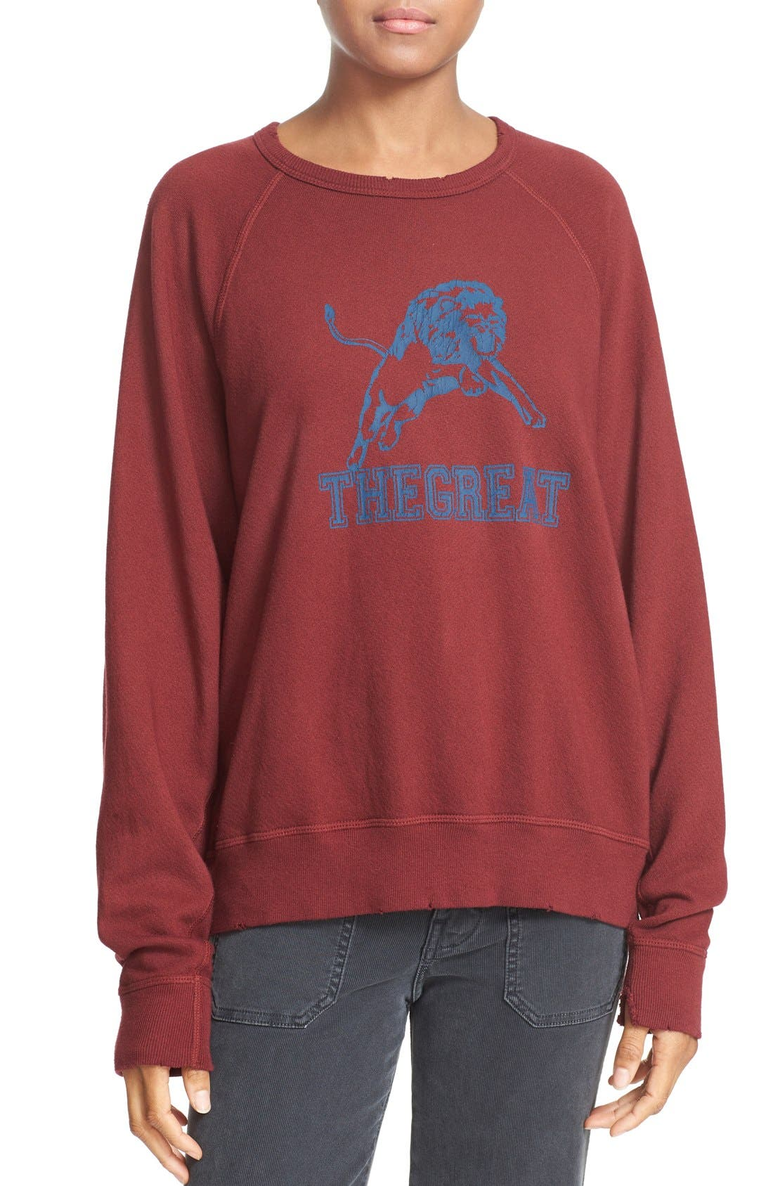 Main Image - THE GREAT. The College French Terry Sweatshirt