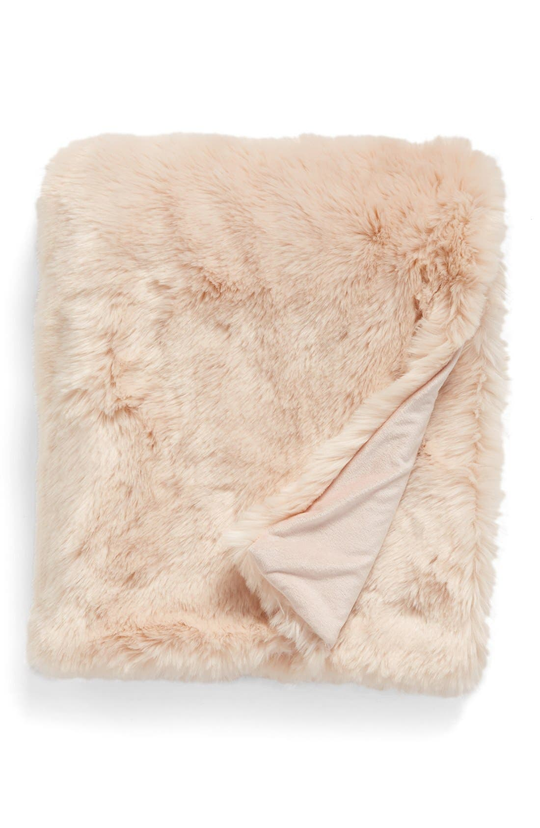 Alternate Image 1 Selected - Nordstrom at Home Cuddle Up Faux Fur Throw Blanket
