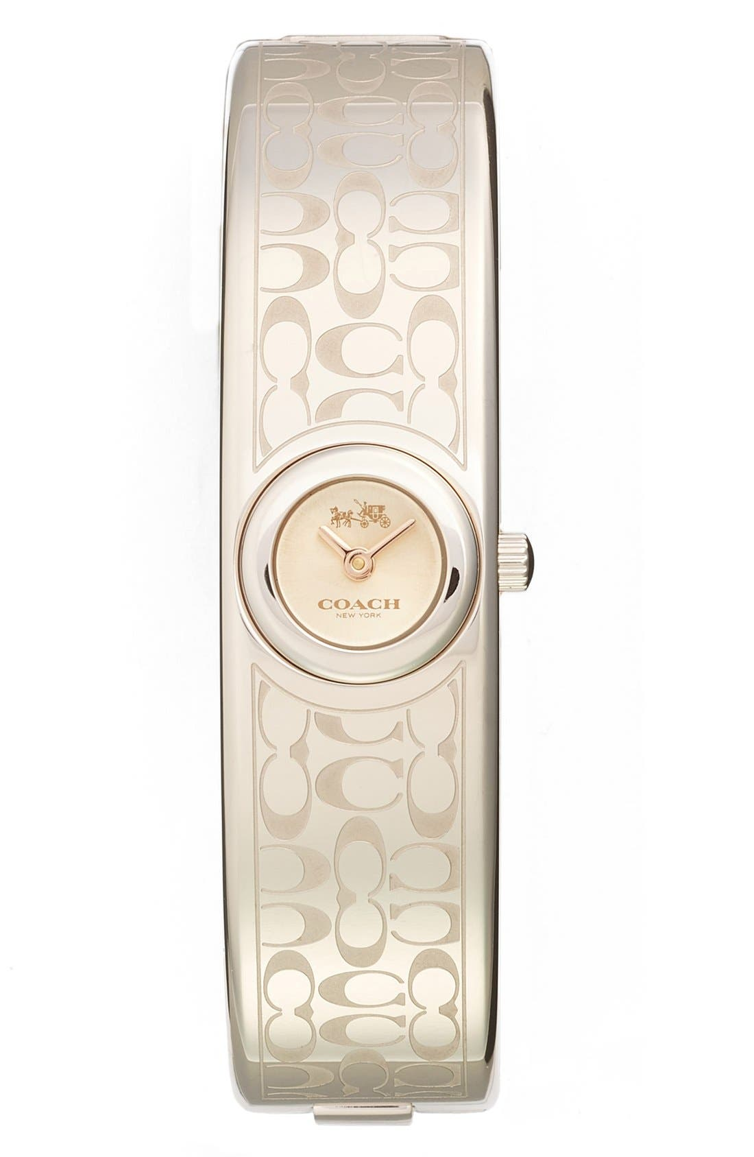 COACH 'Scout' Etched Bangle Watch, 16mm