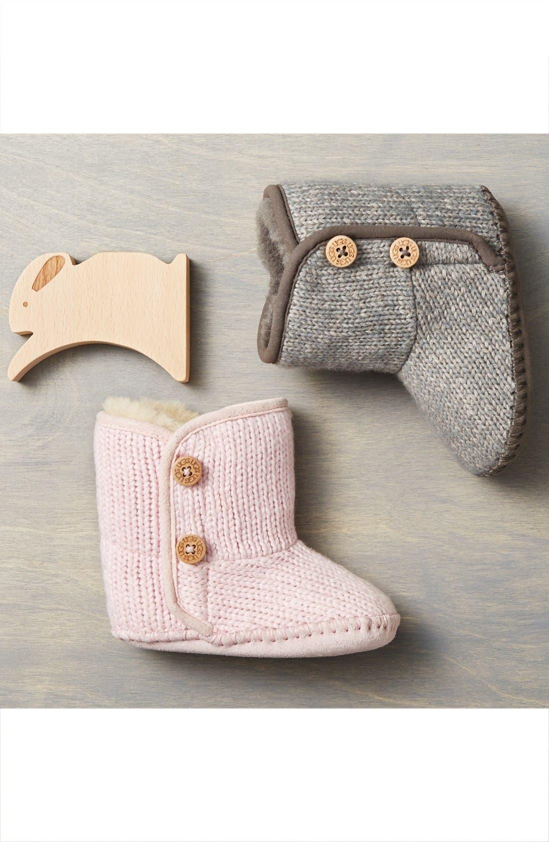 Alternate Image 6  - UGG® Purl Knit Bootie (Baby & Walker)