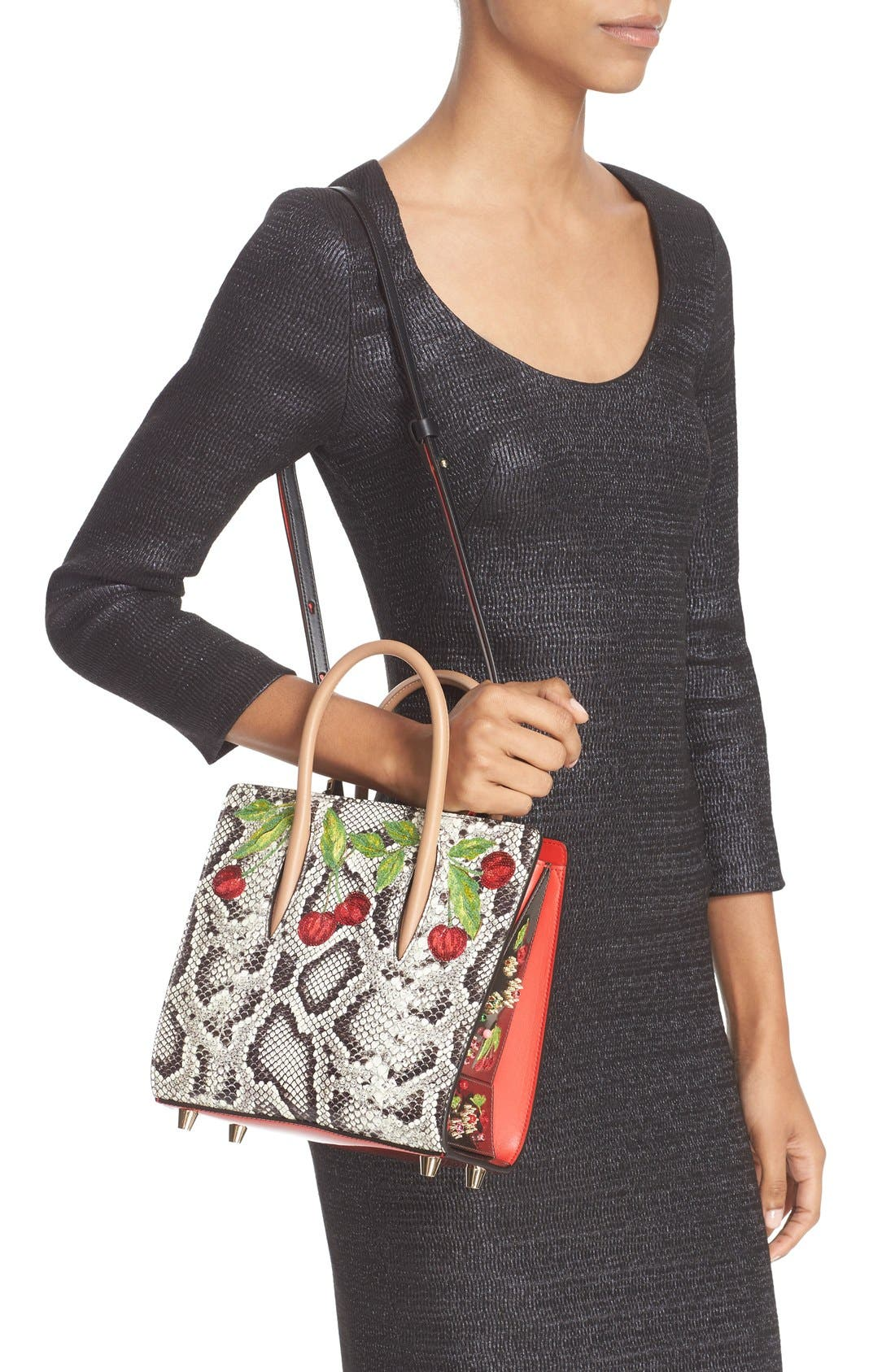 Alternate Image 2  - Christian Louboutin Small Paloma Embellished Genuine Snakeskin Tote