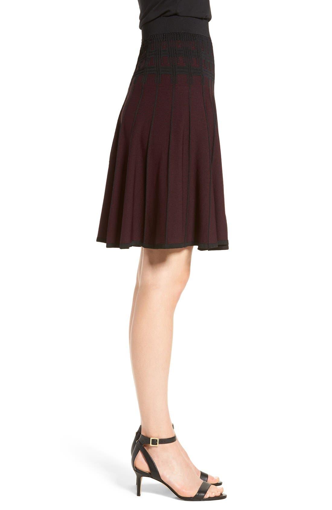 Alternate Image 4  - Ivanka Trump Jacquard Knit Flare Skirt