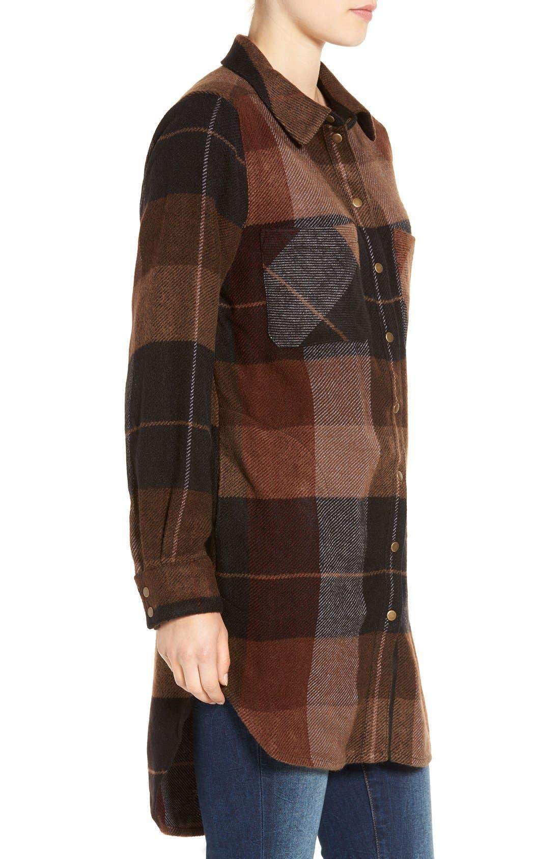 Alternate Image 3  - Dex Plaid Flannel Tunic