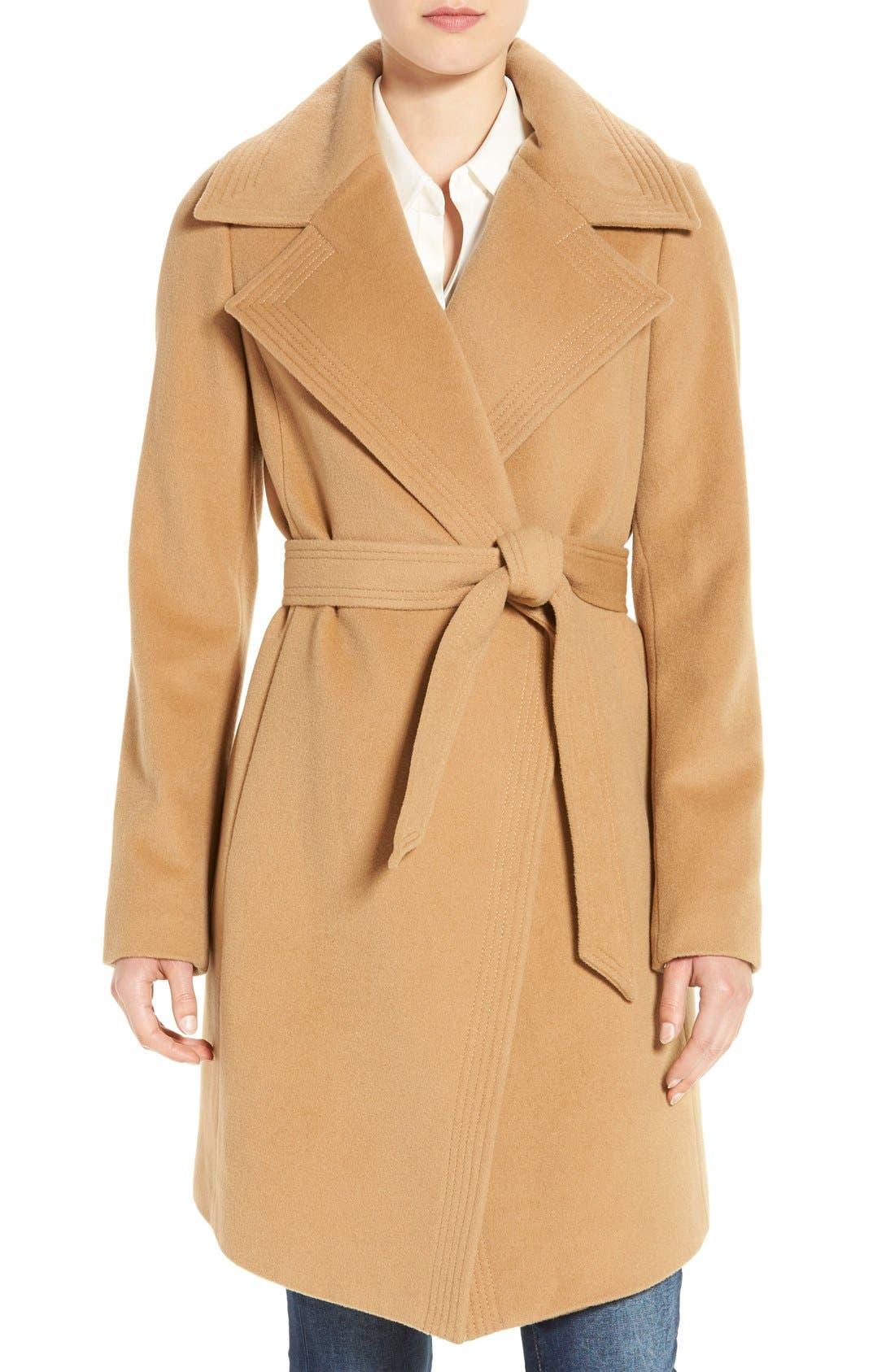 Alternate Image 1 Selected - Diane von Furstenberg Wool Blend Wrap Coat