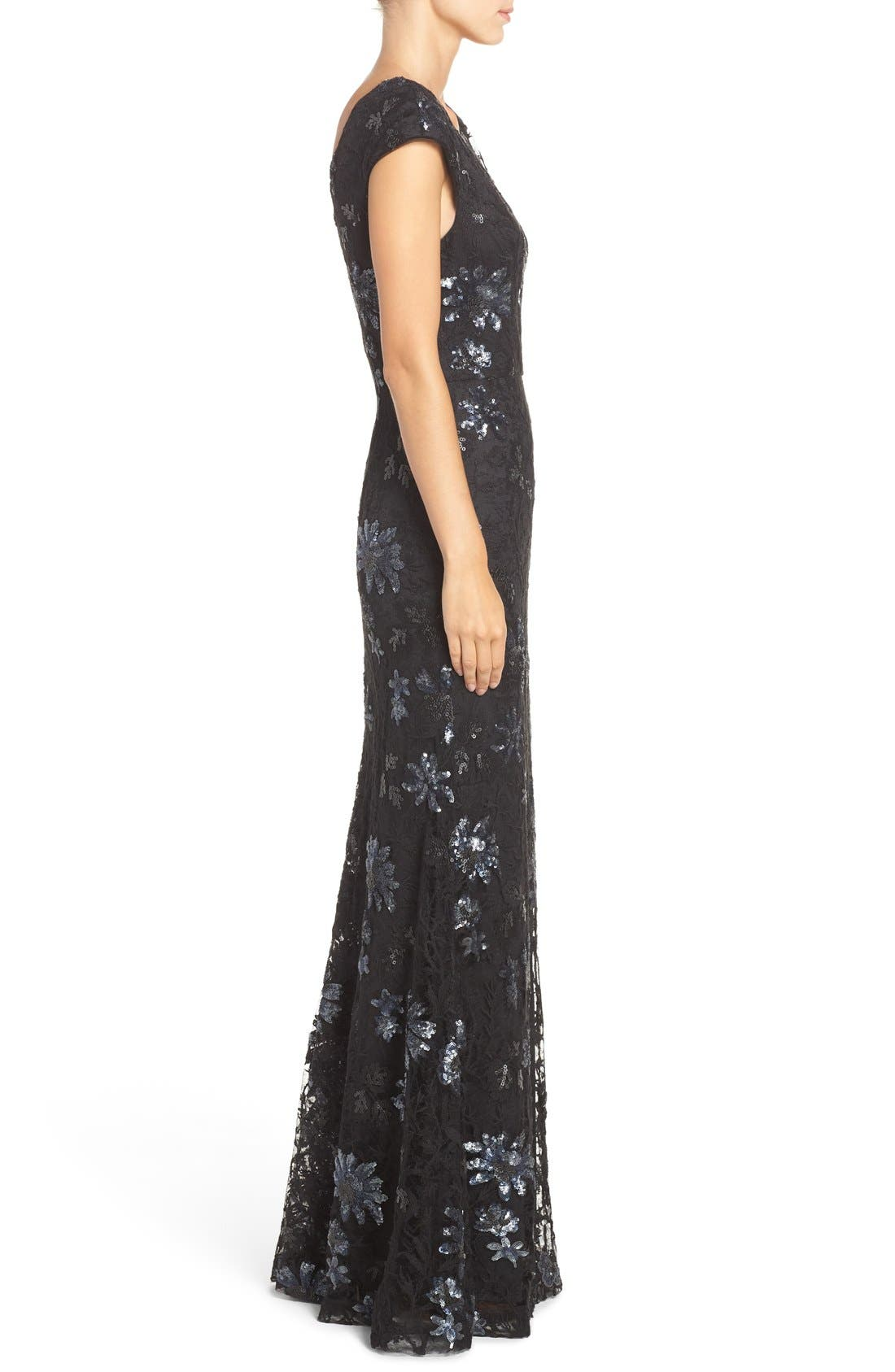 Alternate Image 4  - Vera Wang Sequin Lace Gown