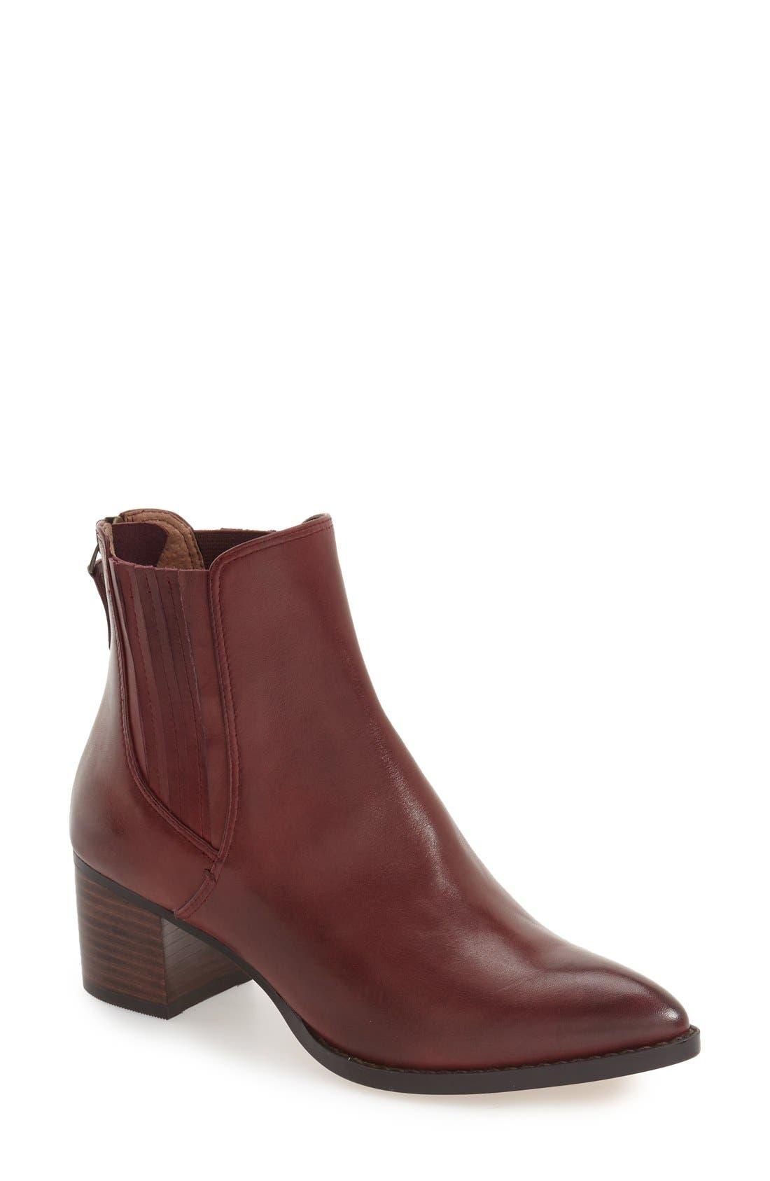 Main Image - Halogen® 'Bailey' Pointy Toe Block Heel Bootie (Women)