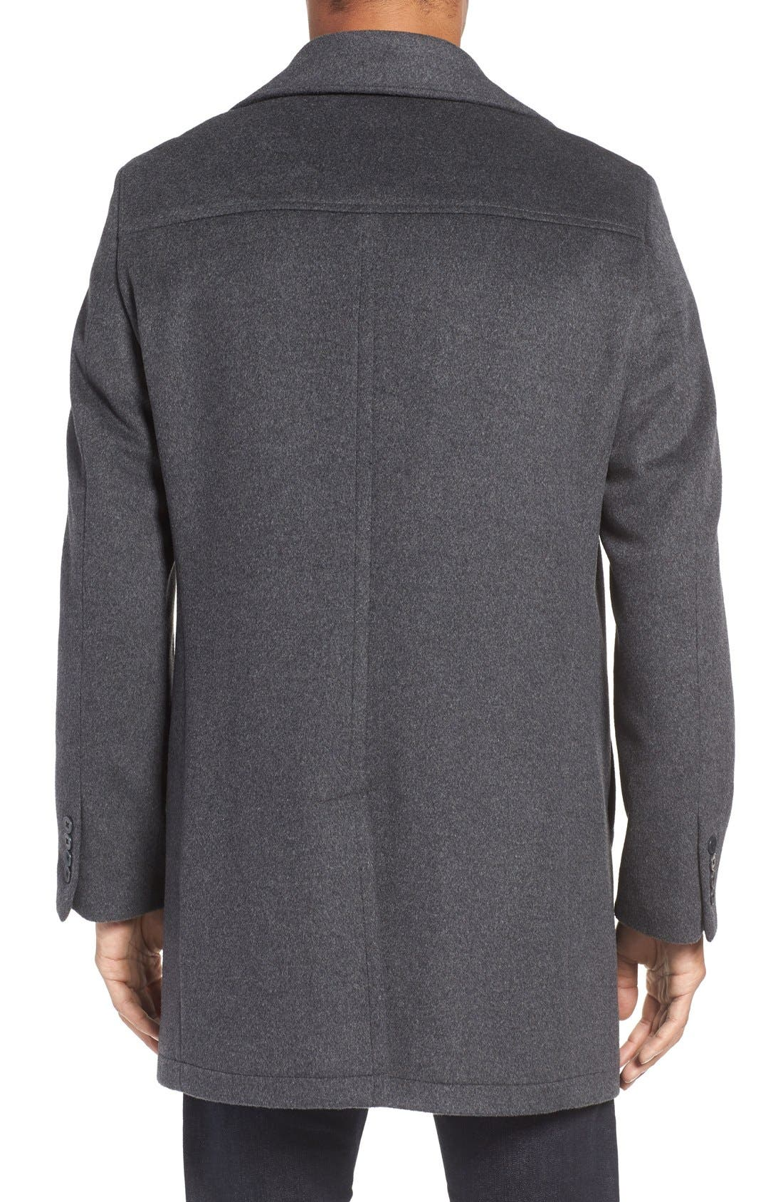 Alternate Image 2  - Nordstrom Men's Shop Wool Blend Car Coat