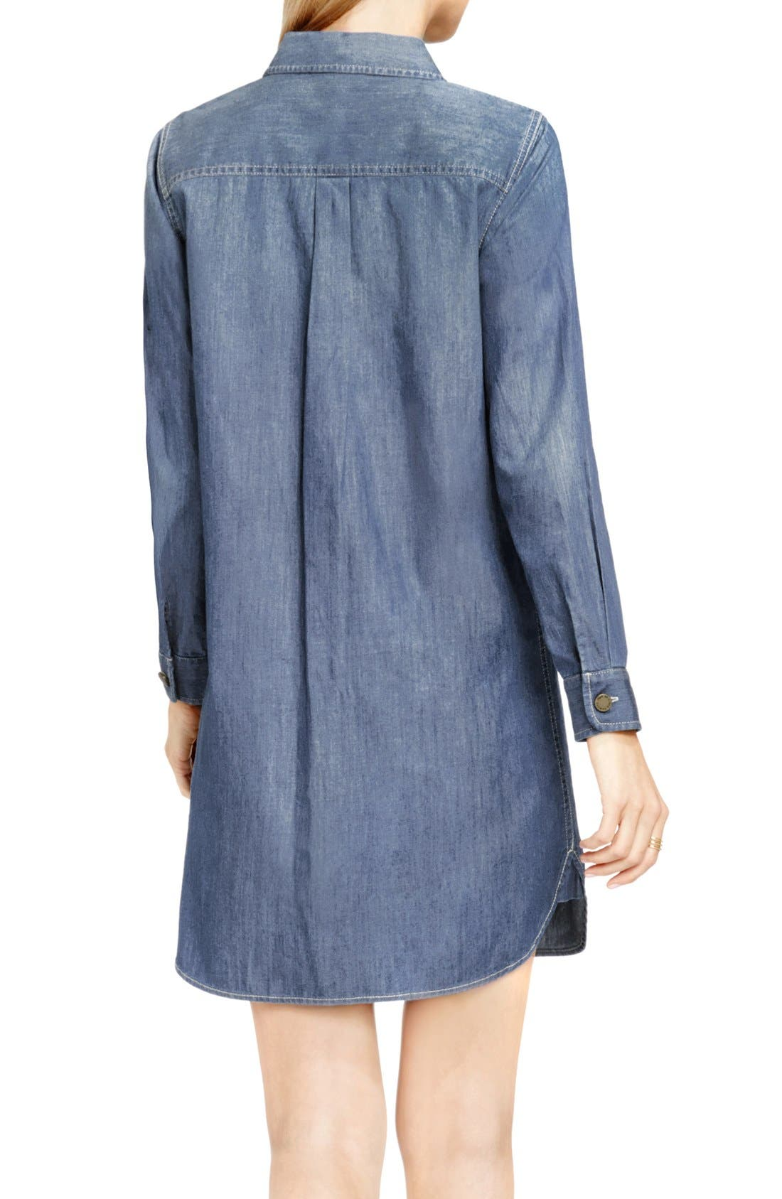 Alternate Image 2  - Two by Vince Camuto Denim Shirtdress