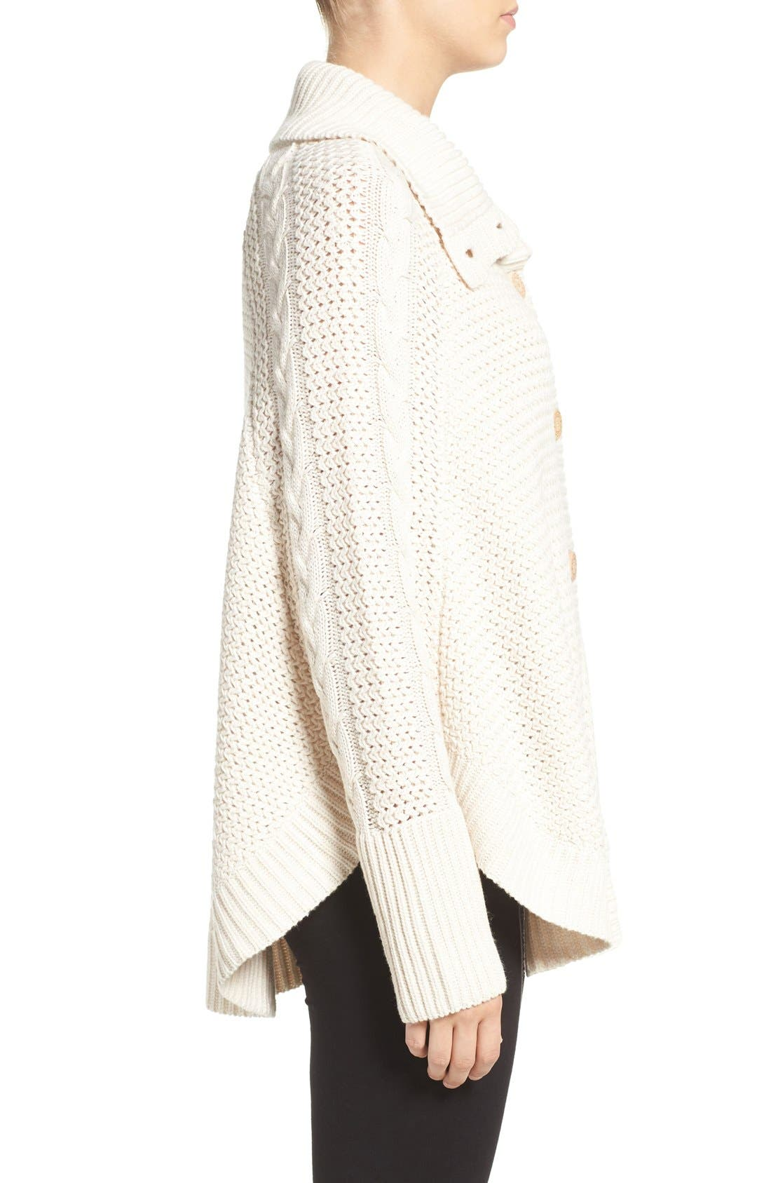 Alternate Image 3  - UGG® 'Maribeth' Cable Knit Cocoon Sweater