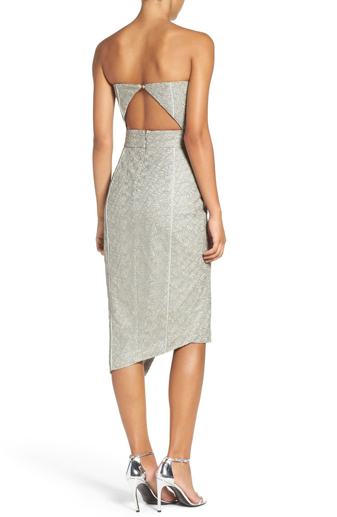 Alternate Image 3  - Misha Collection 'Olivia' Convertible Embroidered Asymmetrical Dress