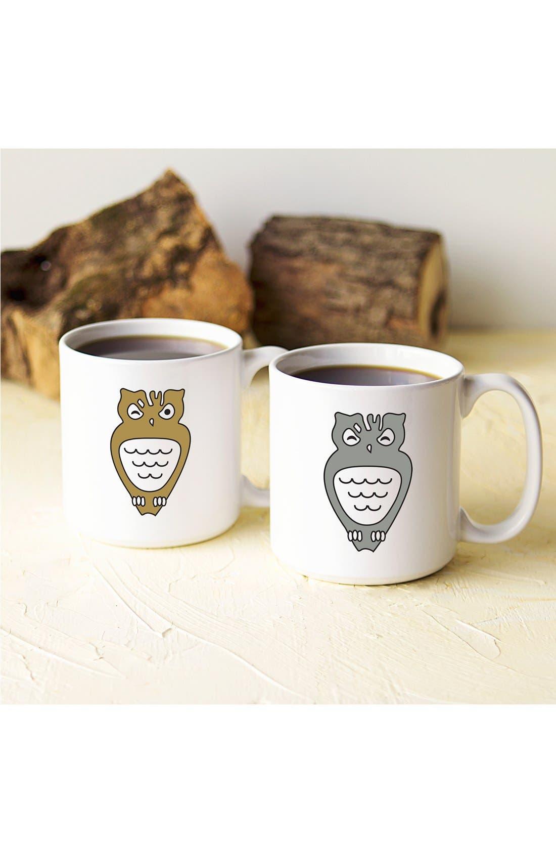 Alternate Image 2  - Cathy's Concepts 'Owl' Ceramic Coffee Mugs (Set of 2)