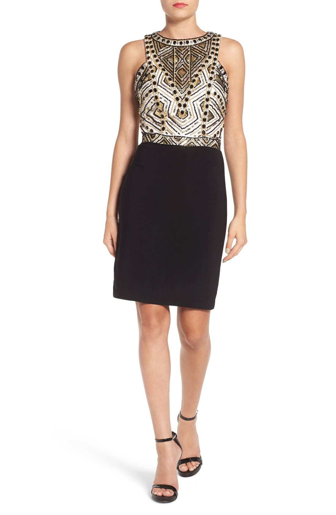 Alternate Image 1 Selected - Mac Duggal Embellished Body-Con Dress
