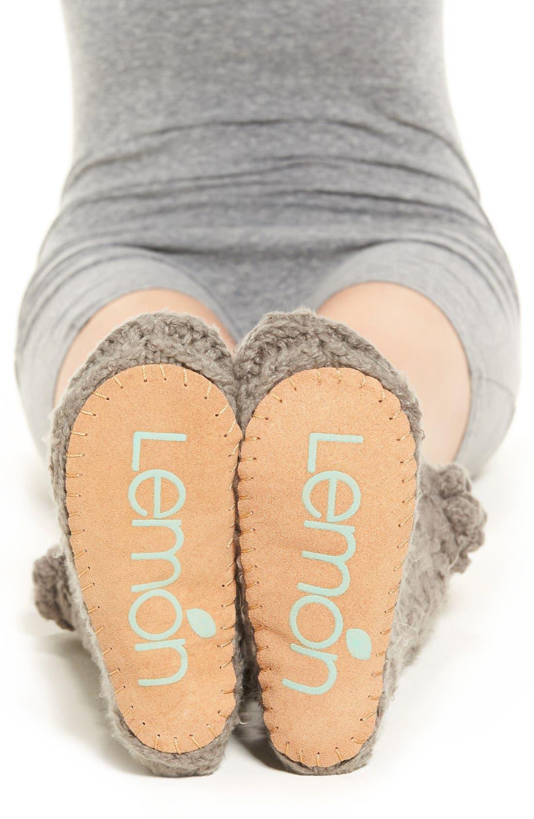 Alternate Image 2  - Lemon 'Garden Marshmallow' Slipper Socks