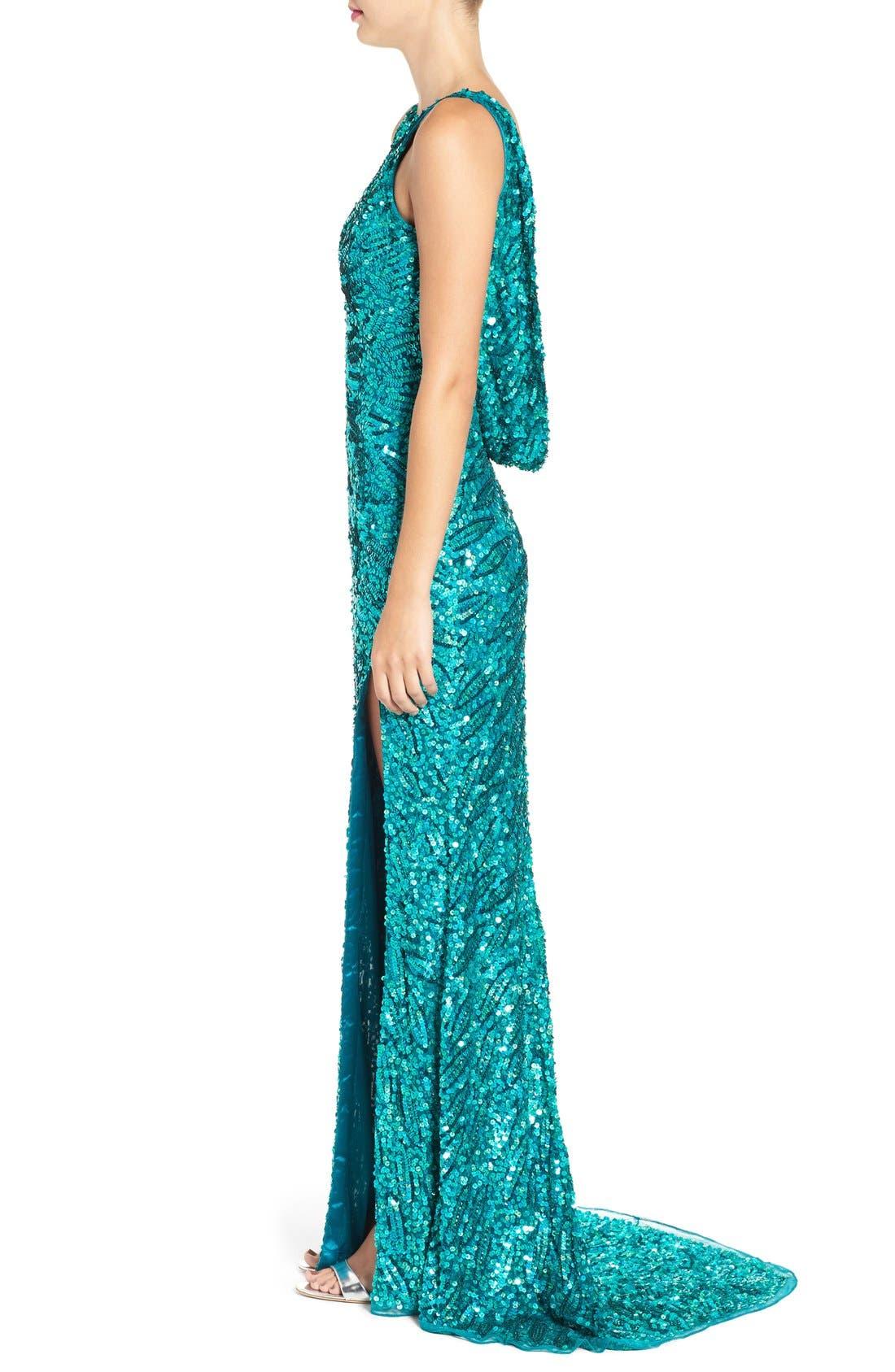 Alternate Image 3  - Mac Duggal Sequin Body-Con Gown